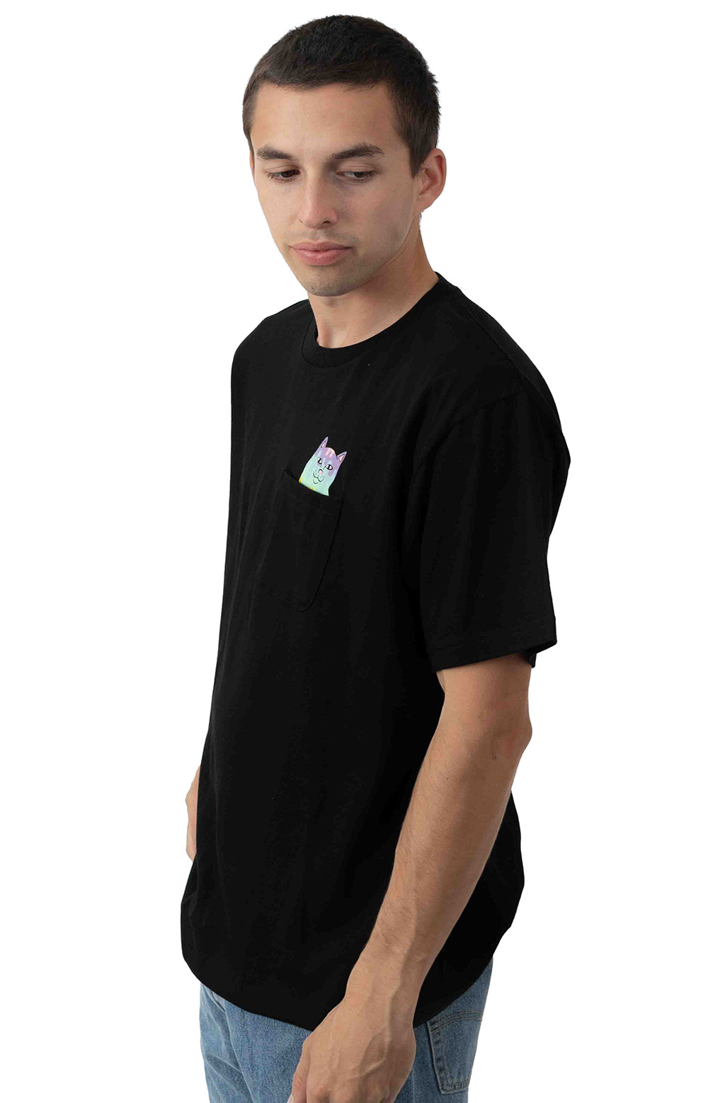 Rainbow Nerm Pocket T-Shirt - Black 2