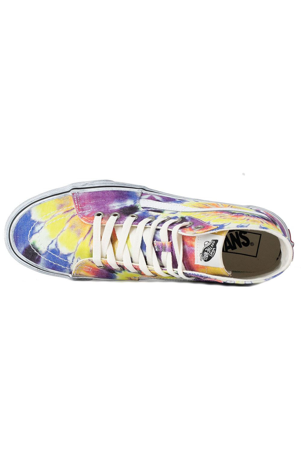 (U1619X) Washed Sk8-Hi Tapered Shoes - Tie-Dye/True White  3