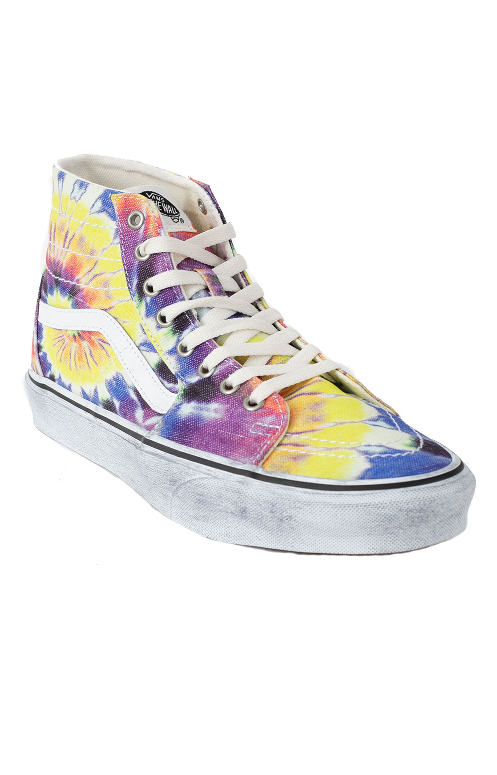 (U1619X) Washed Sk8-Hi Tapered Shoes - Tie-Dye/True White  4
