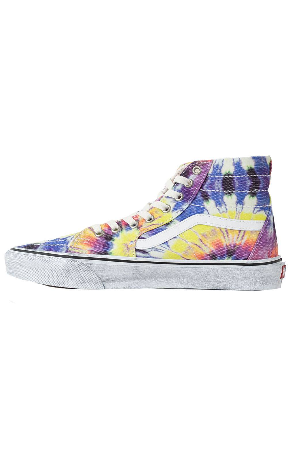 (U1619X) Washed Sk8-Hi Tapered Shoes - Tie-Dye/True White  5