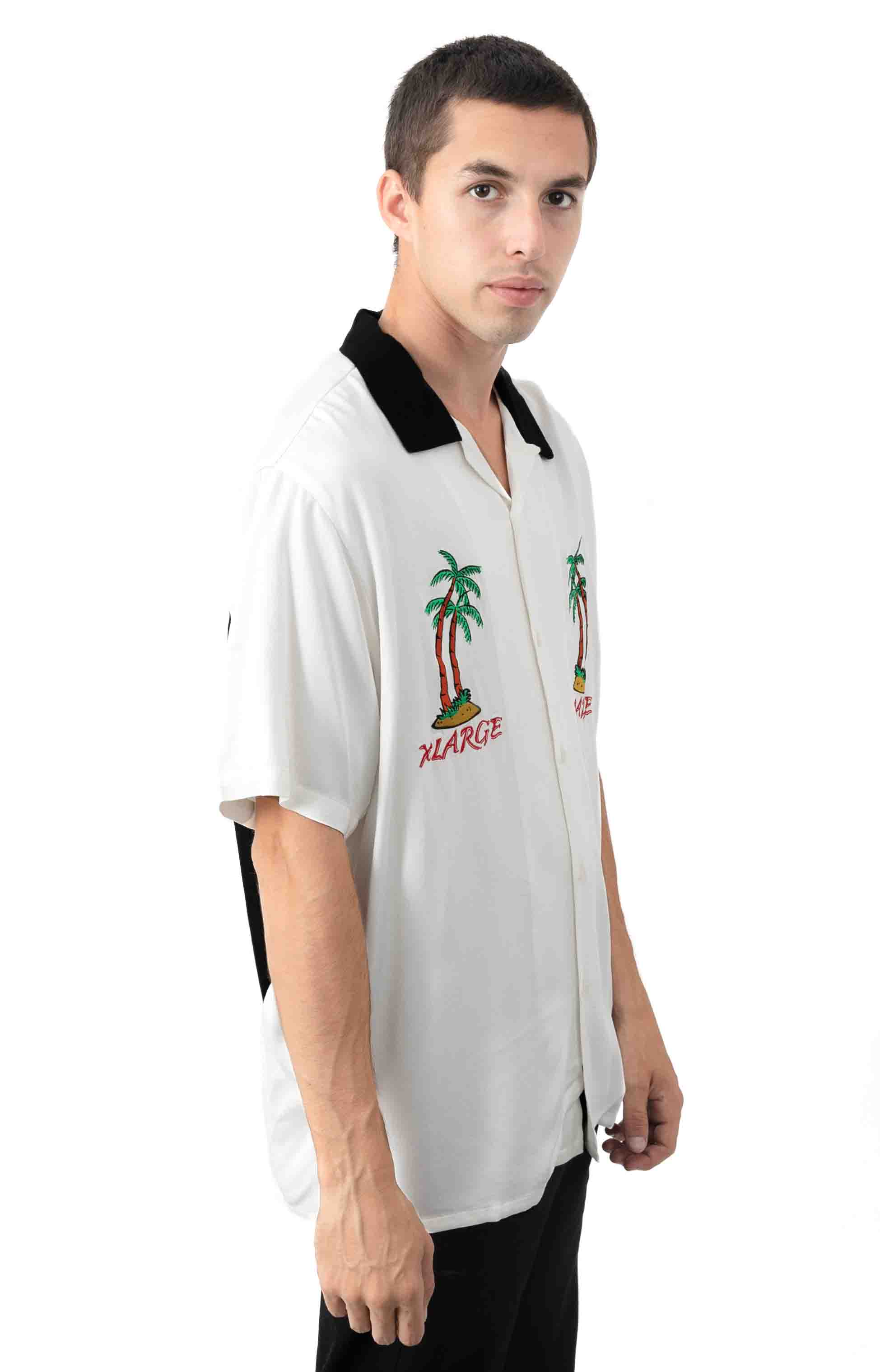 Permanent Vacation Button-Up Shirt - White  2
