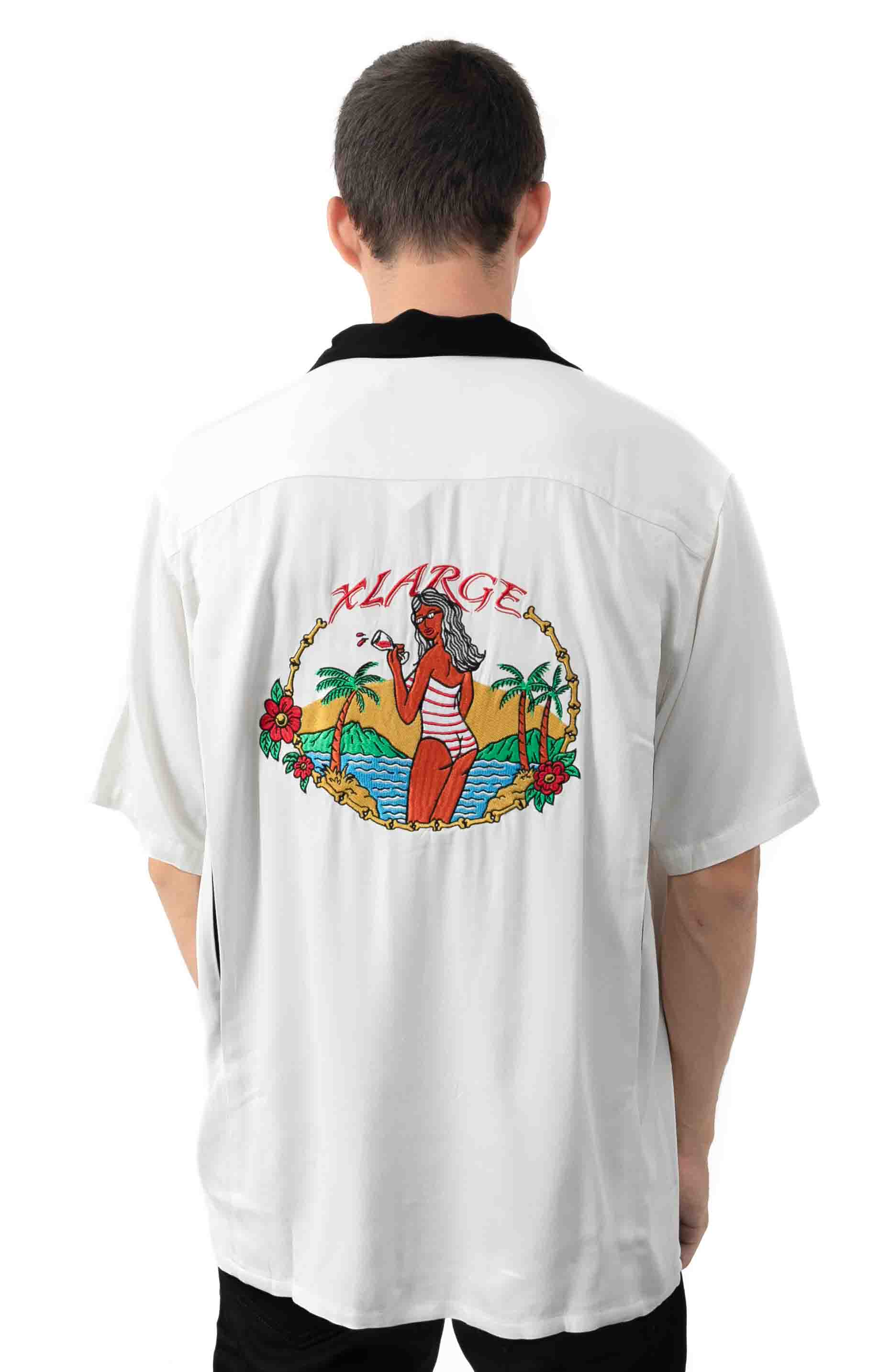 Permanent Vacation Button-Up Shirt - White  3