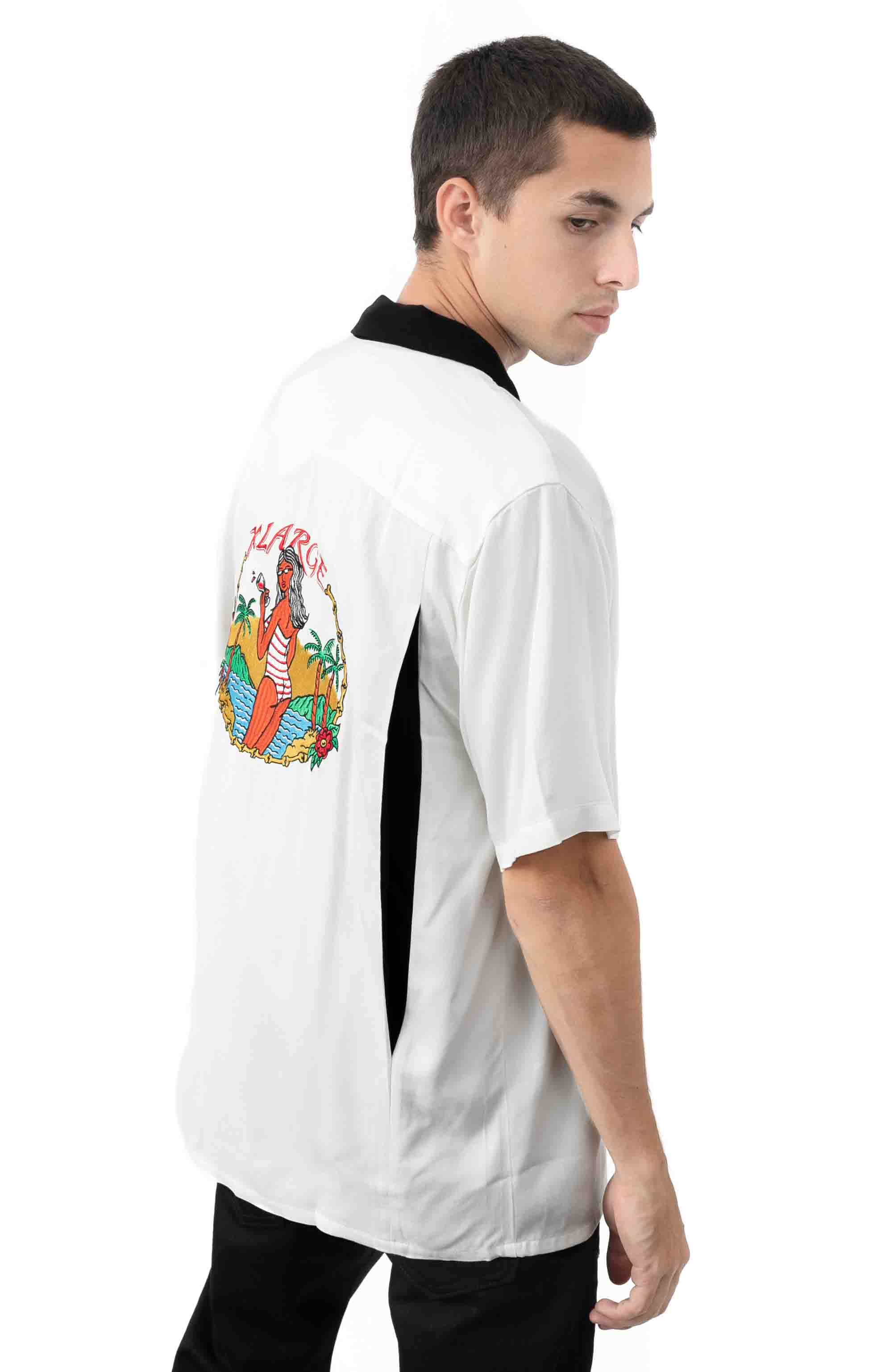 Permanent Vacation Button-Up Shirt - White  4