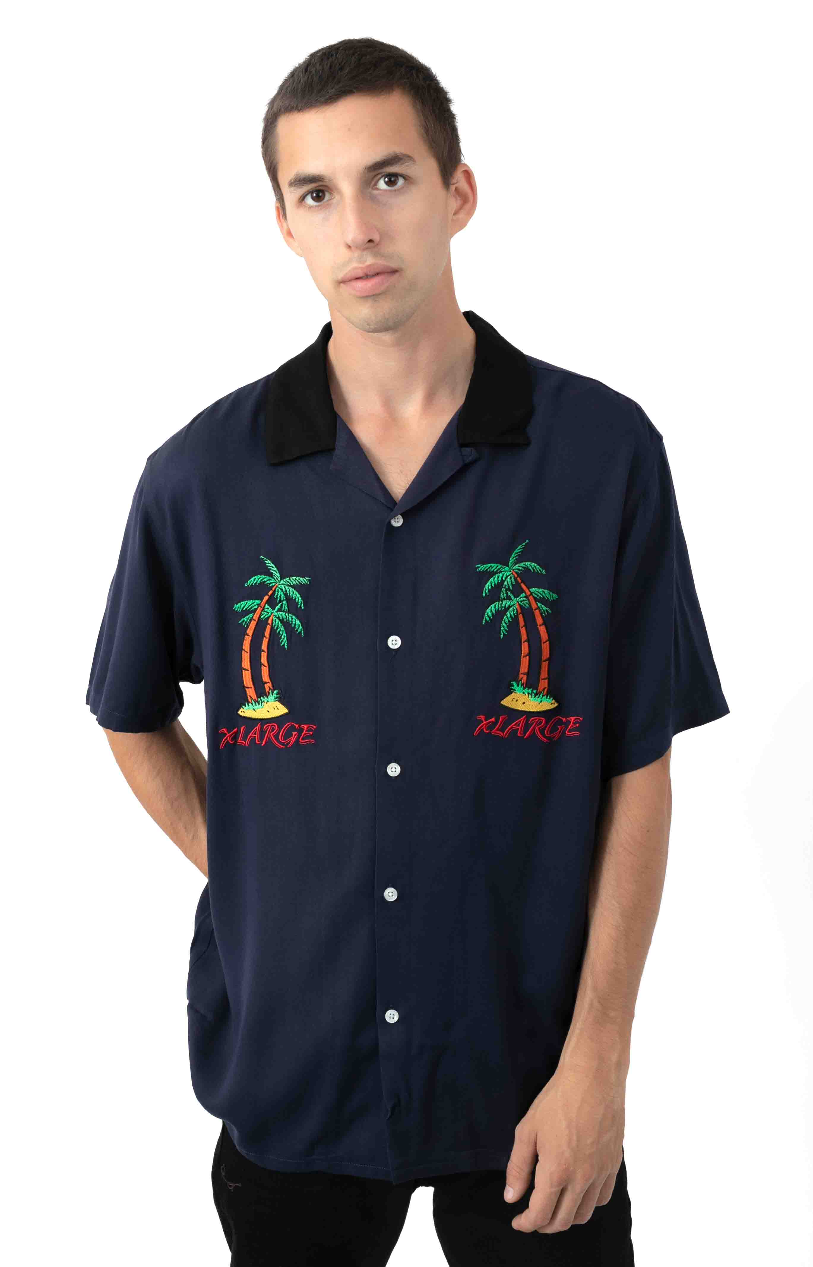Permanent Vacation Button-Up Shirt - Blue