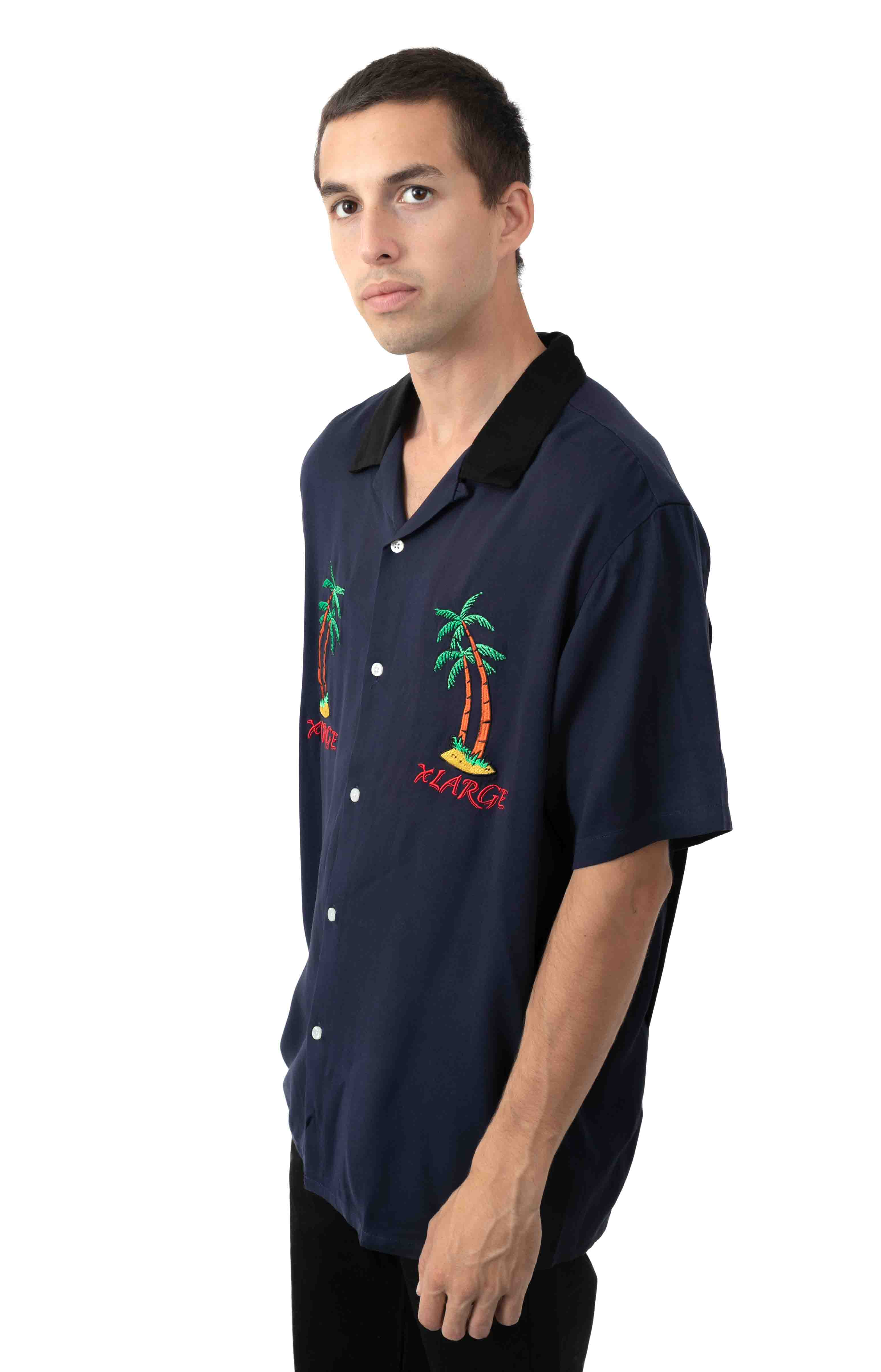 Permanent Vacation Button-Up Shirt - Blue  2