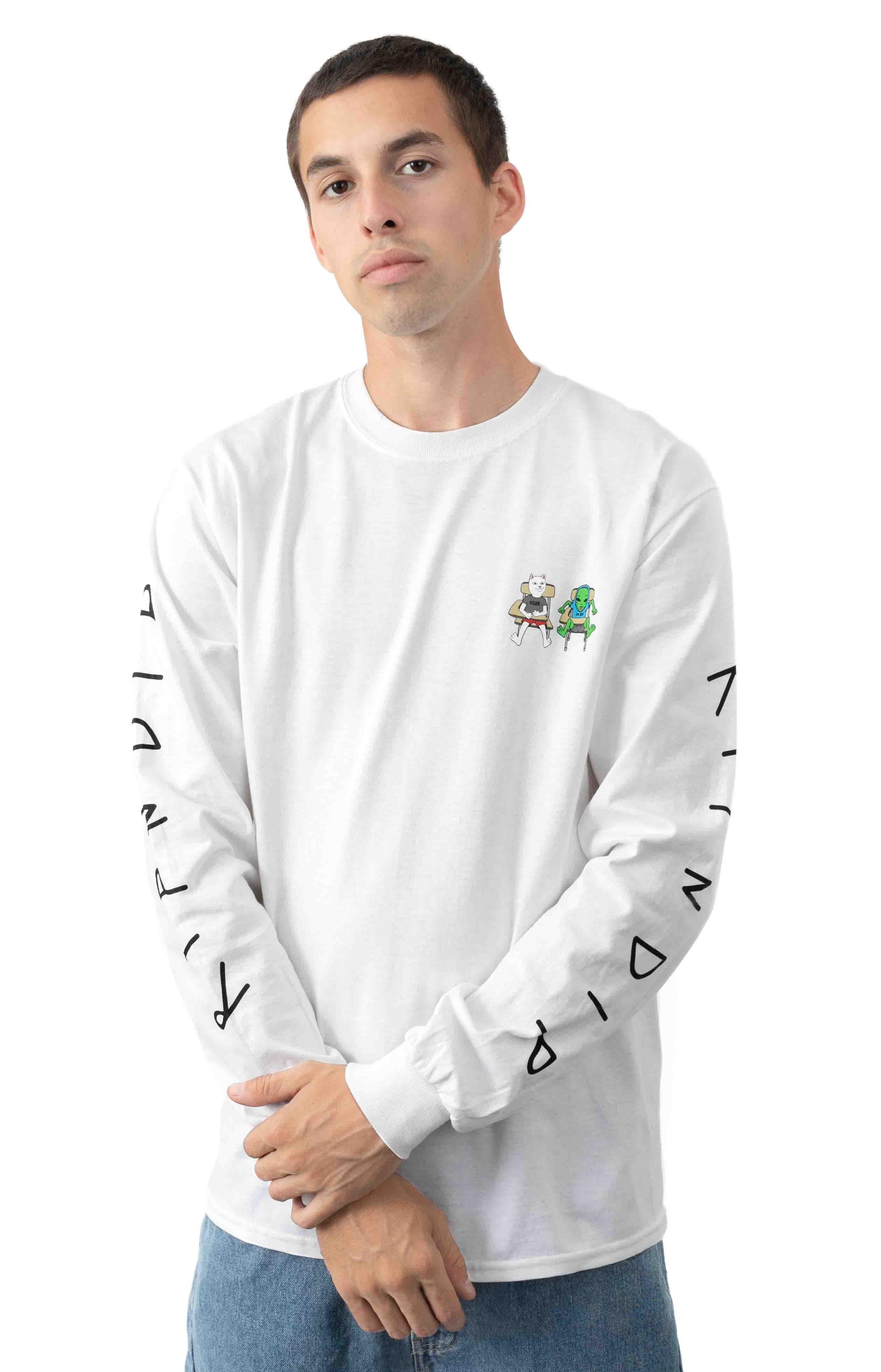 Butts Up L/S Shirt - White  2