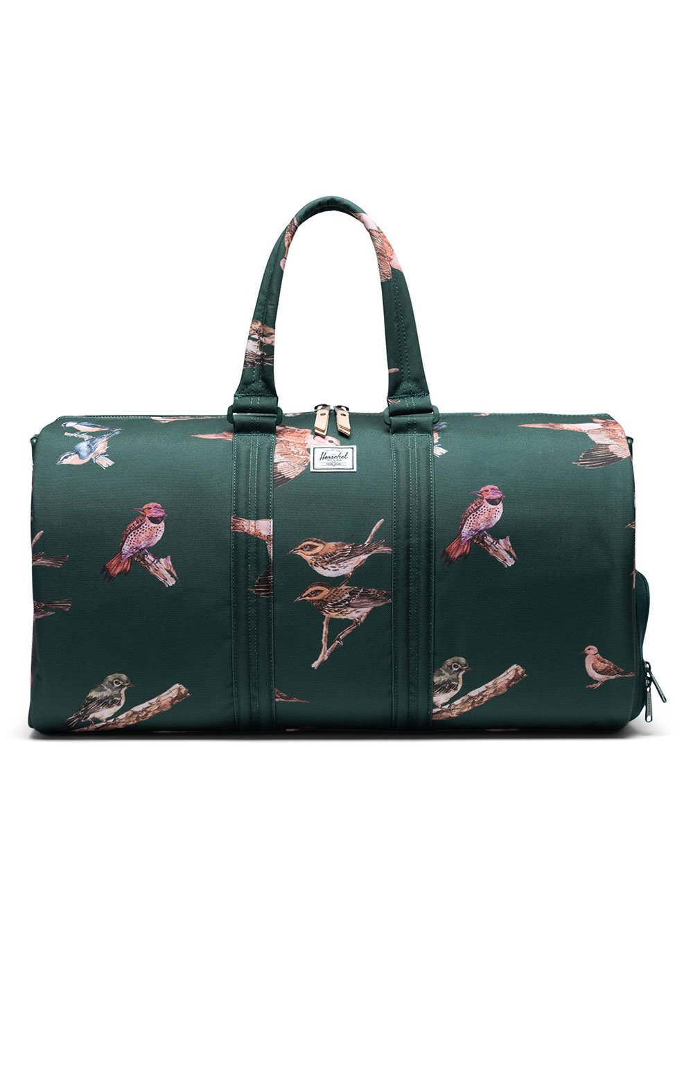 Novel Duffle Bag - Dark Green Birds