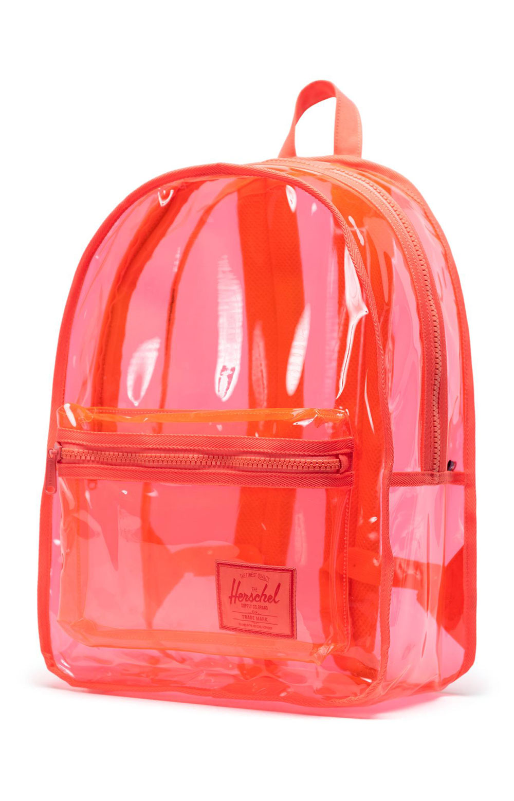 Classic Clear Backpack XL - Hot Coral  2