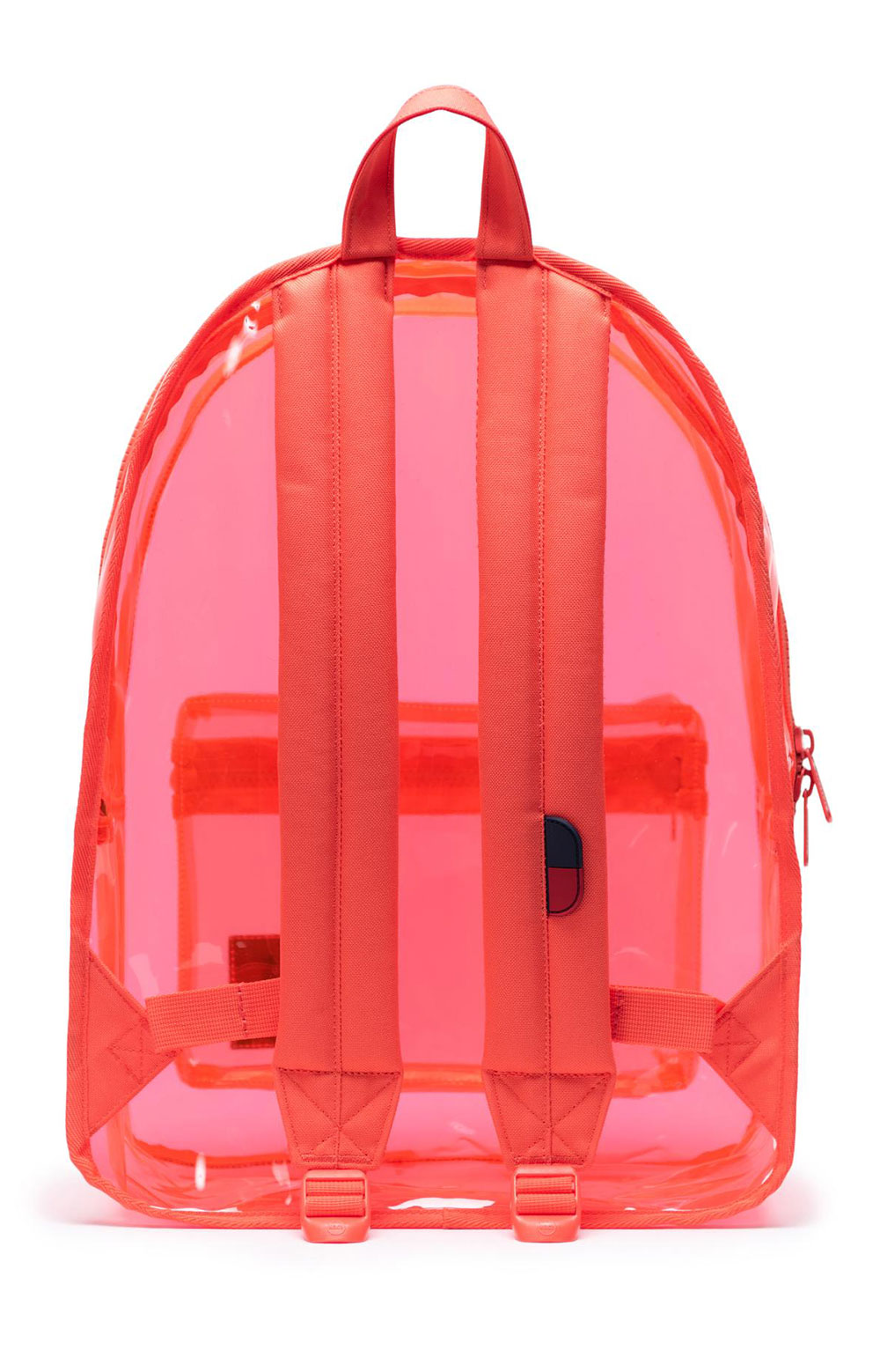 Classic Clear Backpack XL - Hot Coral  3