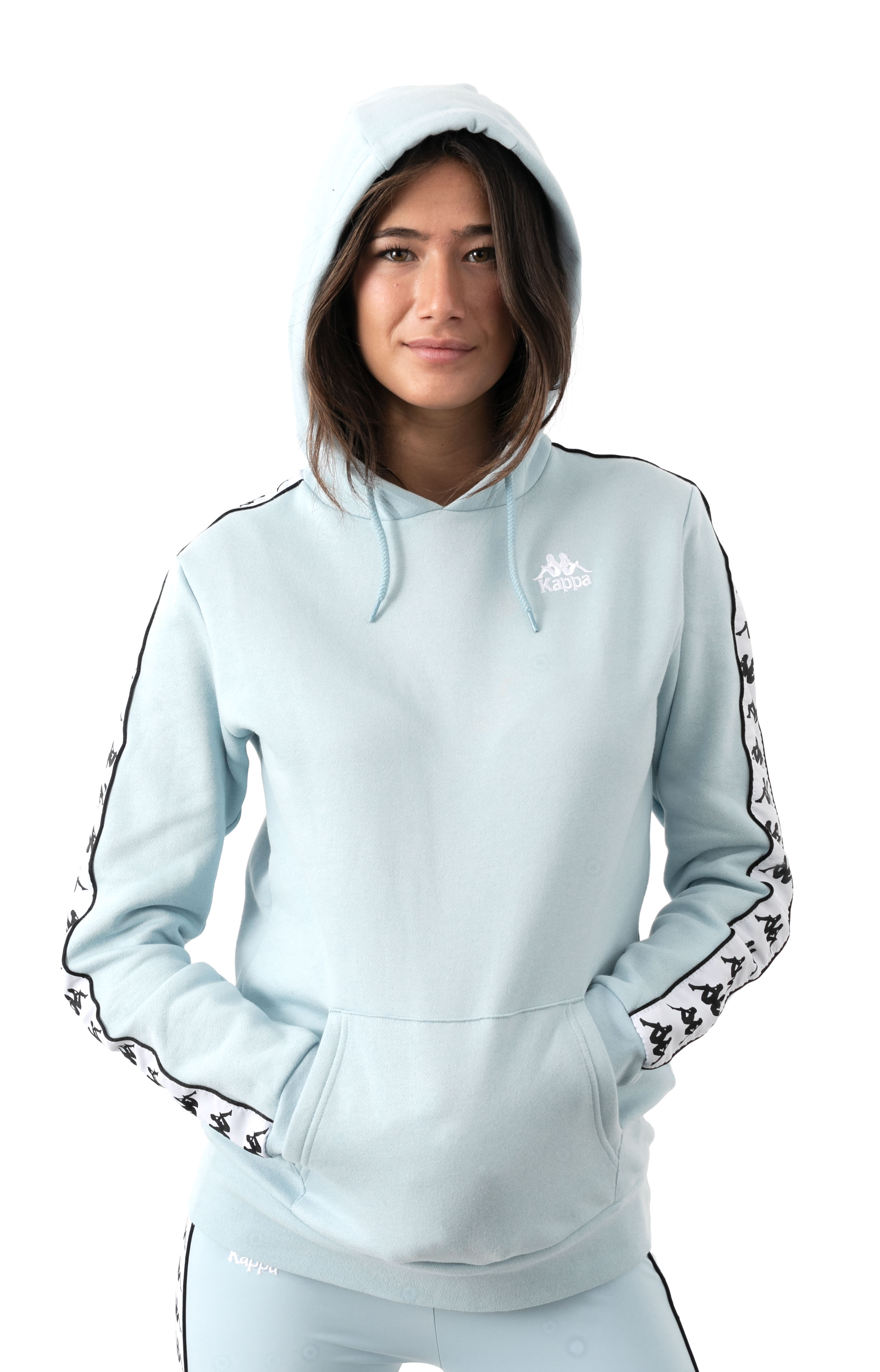 222 Banda Budy 2 Pullover Hoodie - Baby Blue/White