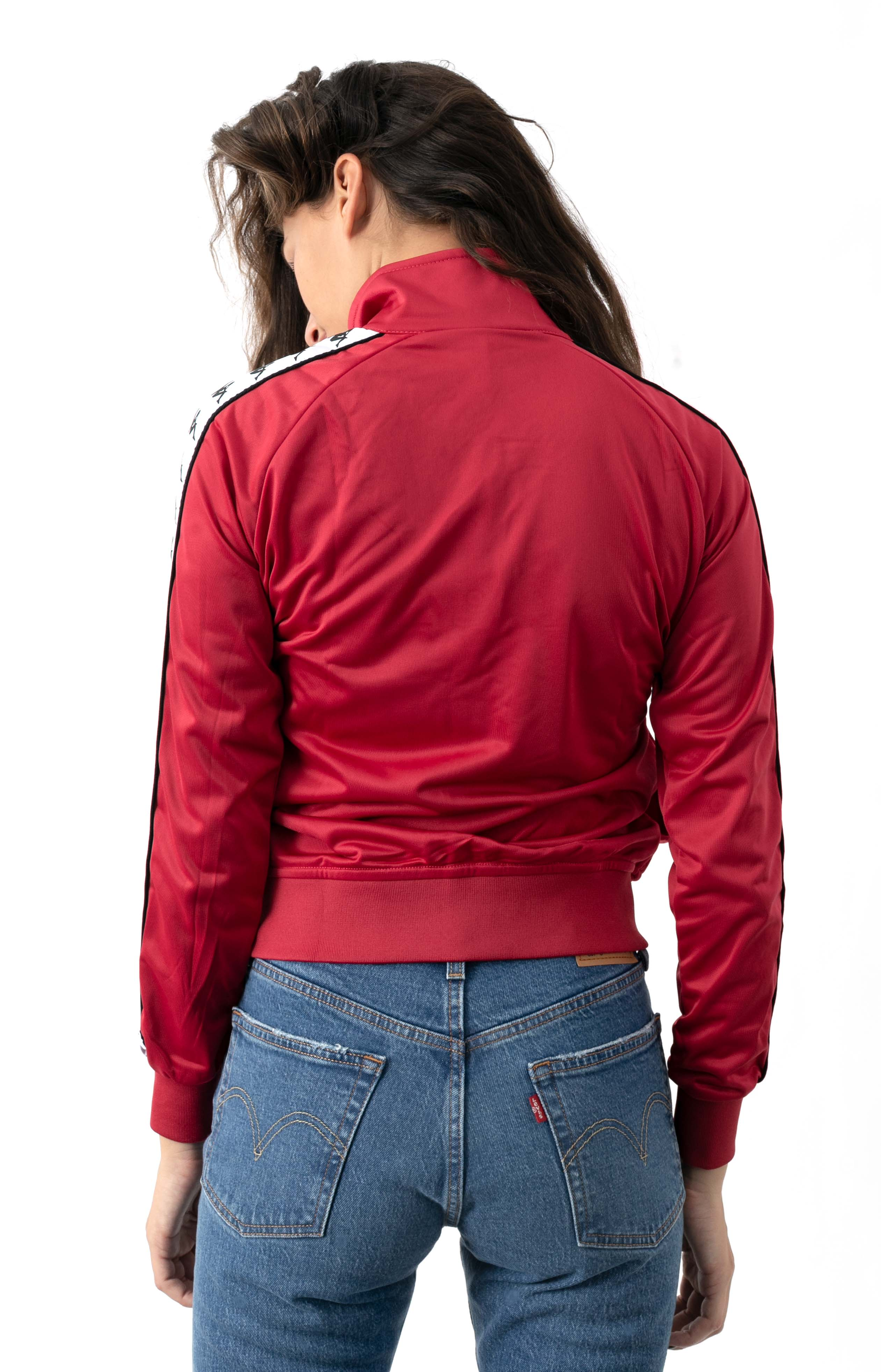222 Banda Wanniston Slim Track Jacket - Red Cyclamen/White  3