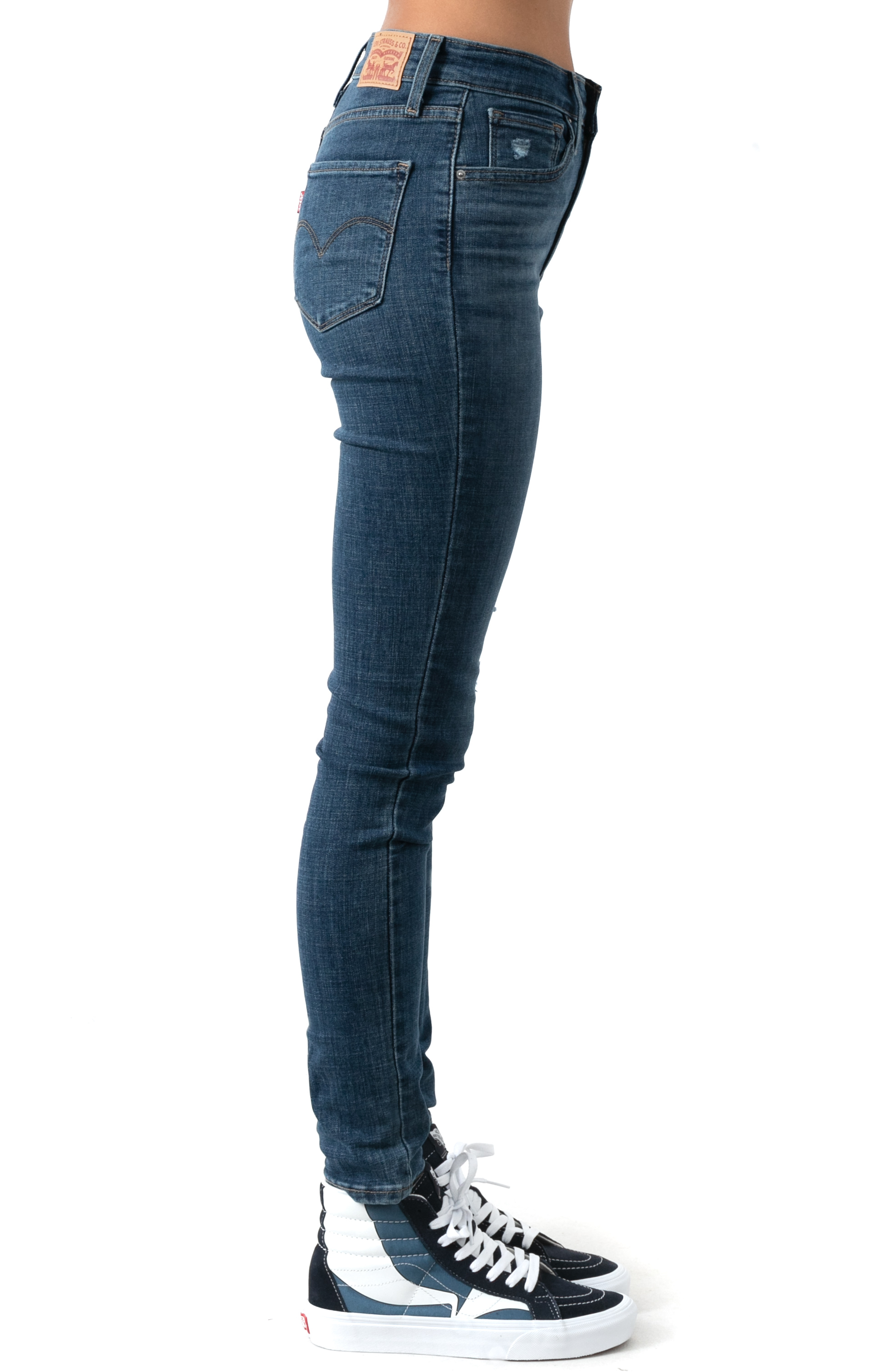 721 High Rise Skinny Jeans - Lapis Blue  2