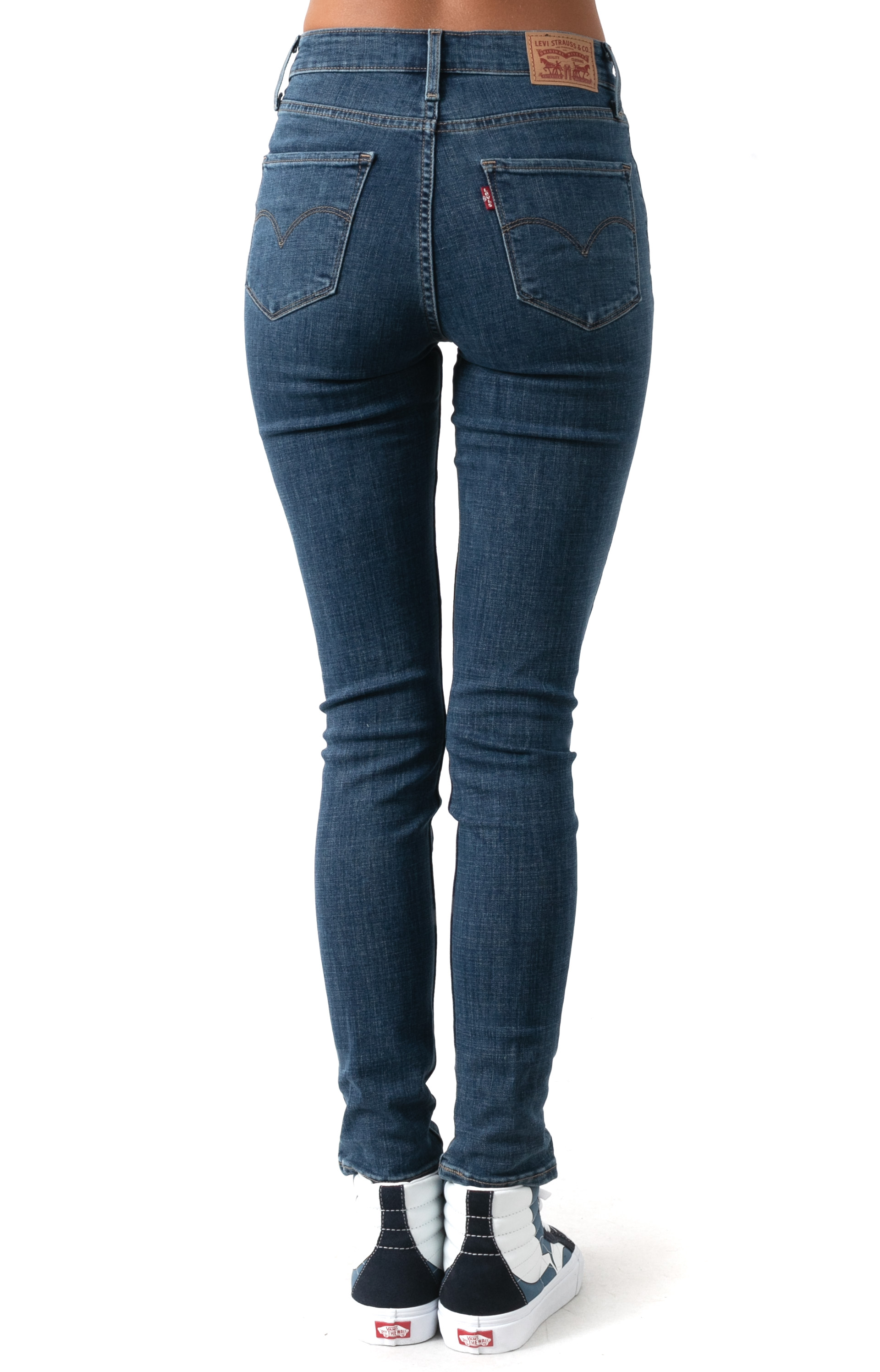 721 High Rise Skinny Jeans - Lapis Blue  3