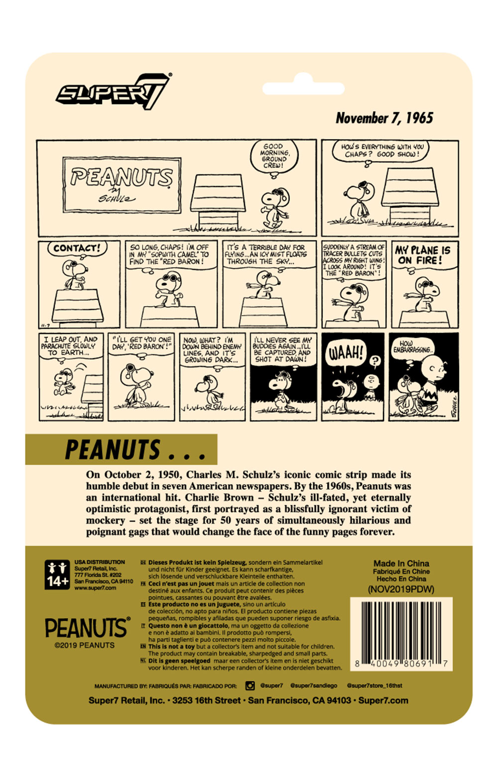 Peanuts ReAction Figure Wave 2 - Snoopy Flying Ace  3