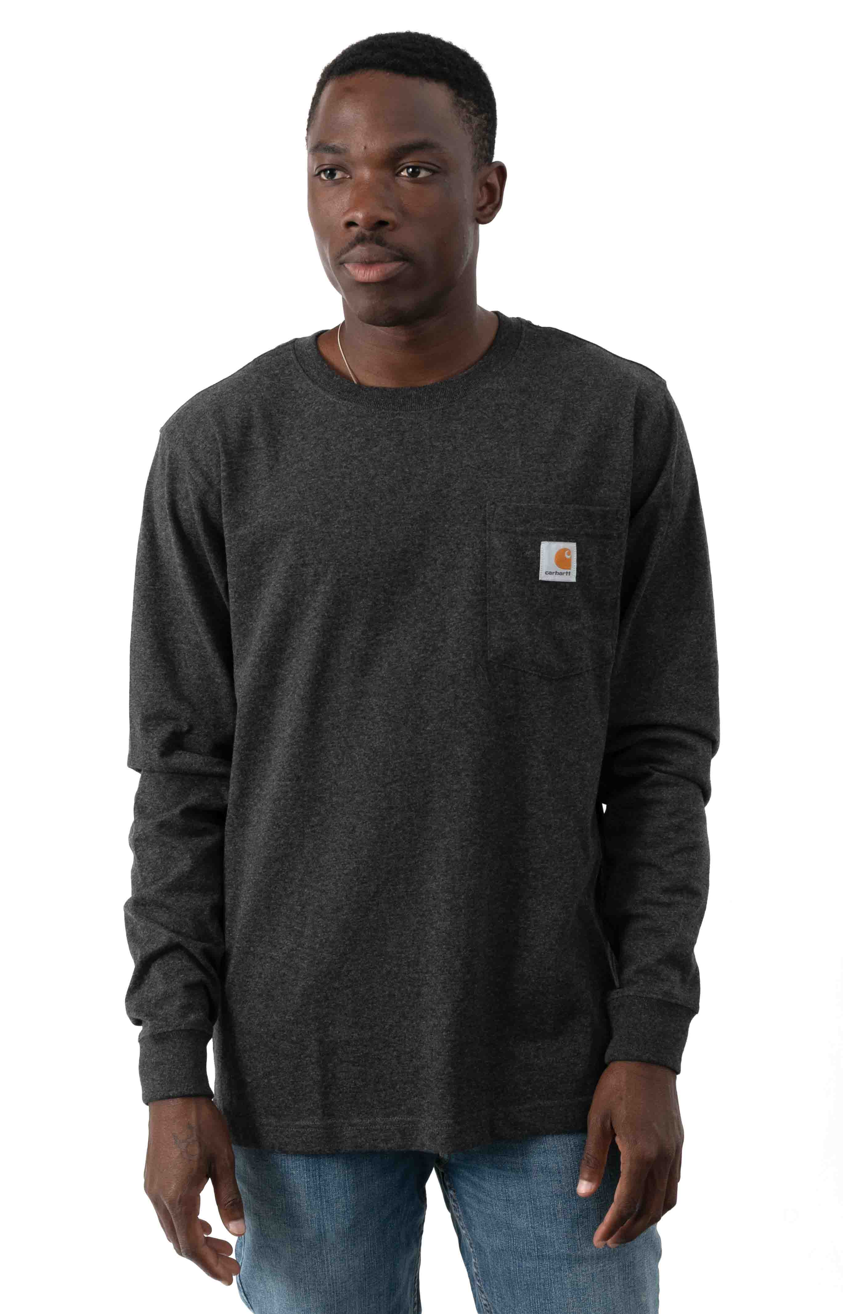 (104438) Relaxed Fit HW L/S Pocket Built For The Elements Graphic Shirt - Carbon Heather  2