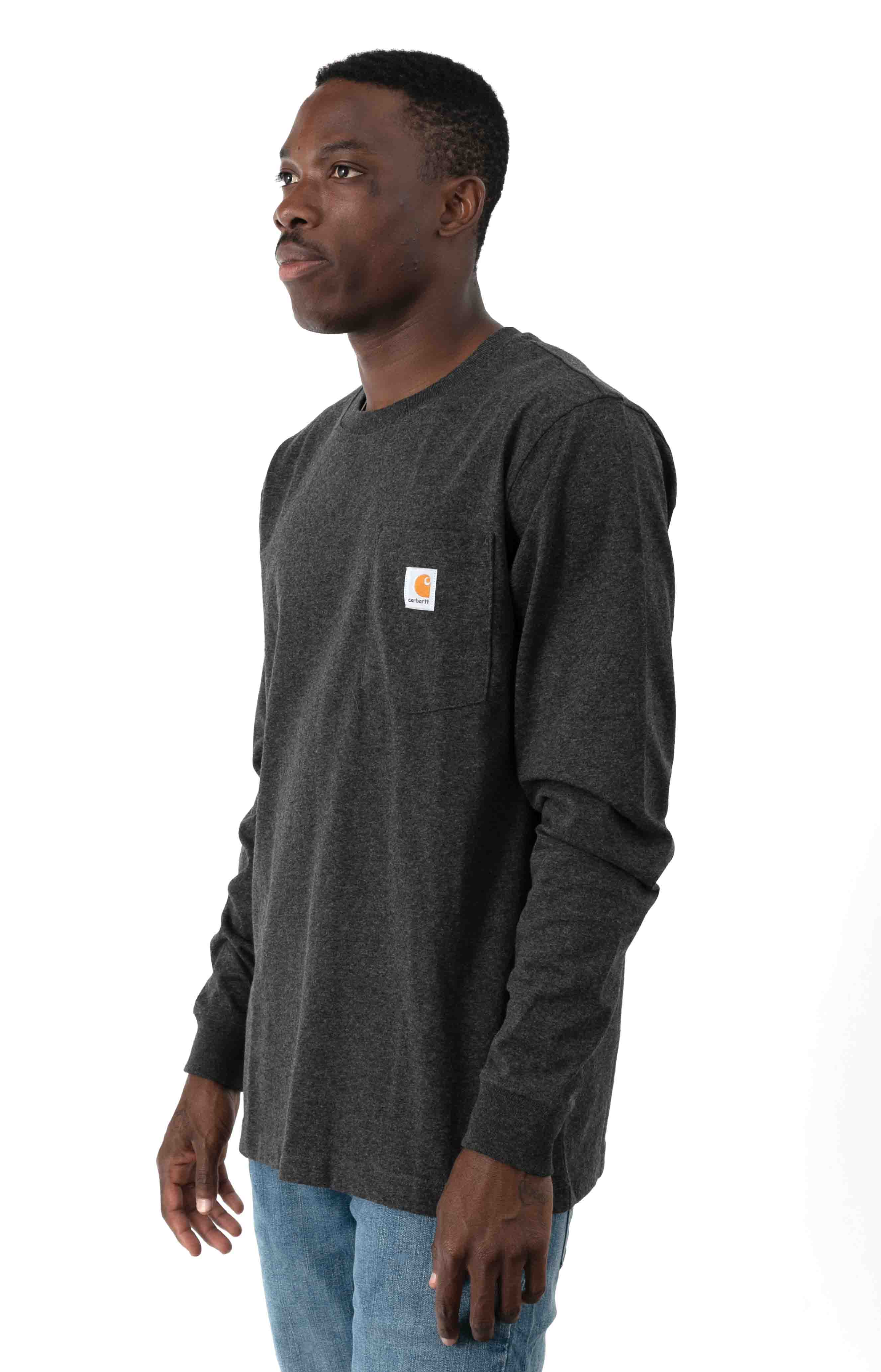 (104438) Relaxed Fit HW L/S Pocket Built For The Elements Graphic Shirt - Carbon Heather  3