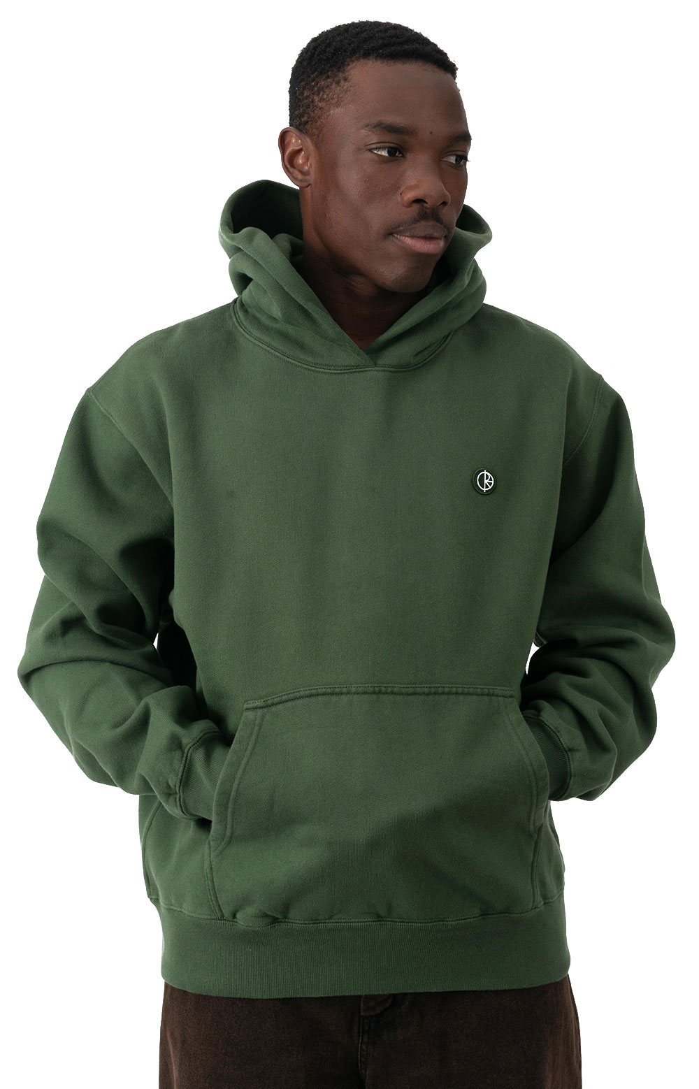 Patch Pullover Hoodie - Hunter Green