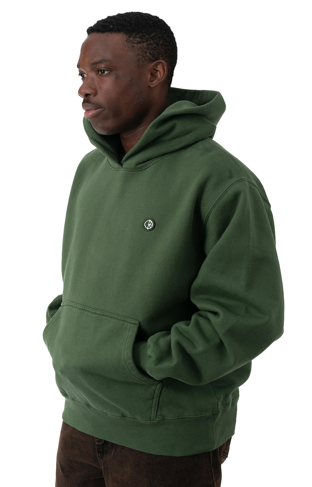 Patch Pullover Hoodie - Hunter Green  2