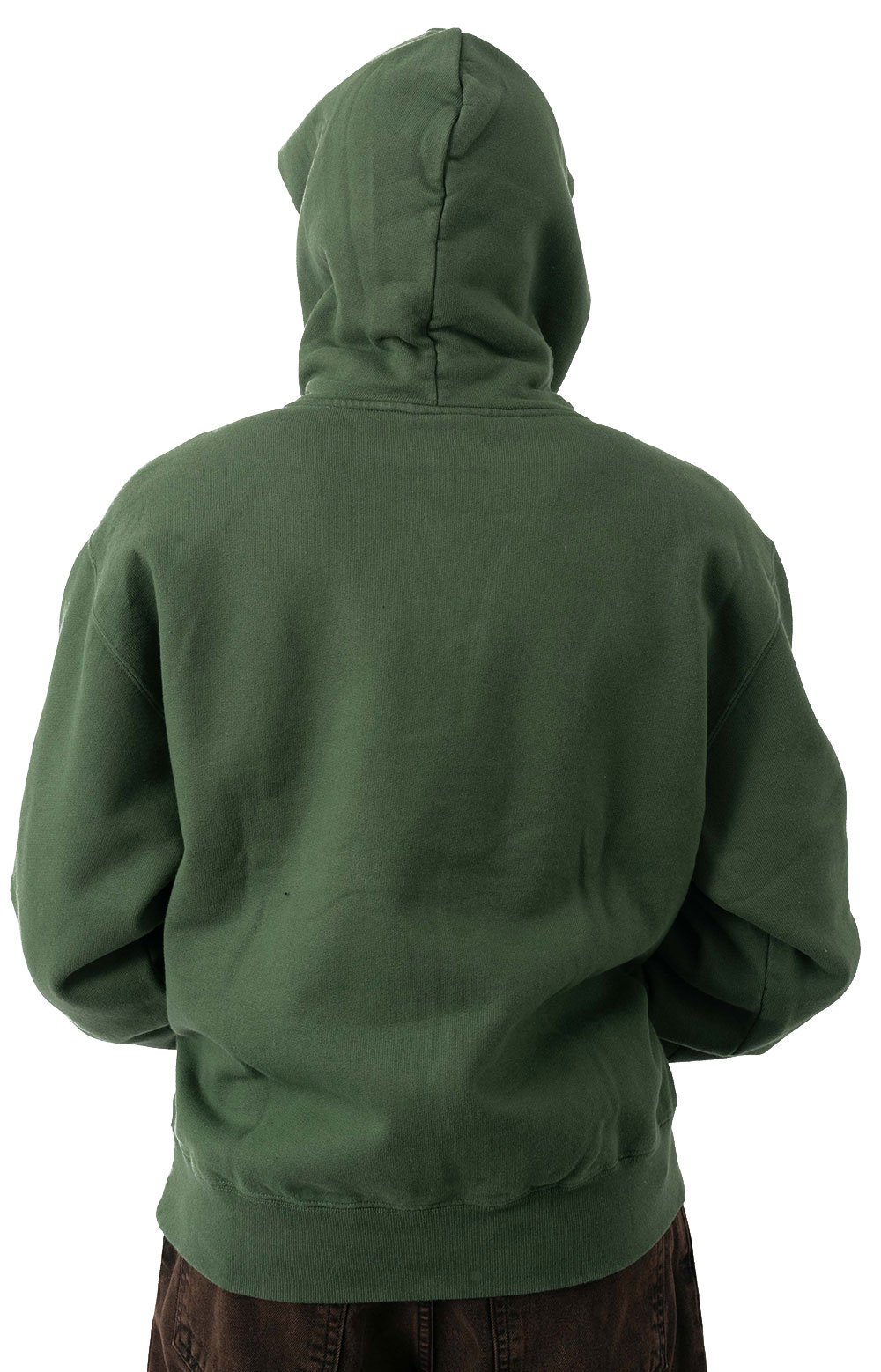 Patch Pullover Hoodie - Hunter Green  3