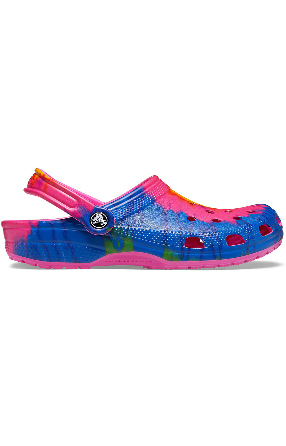 Classic Tie-Dye Graphic Clogs - Electric Pink/Multi 2