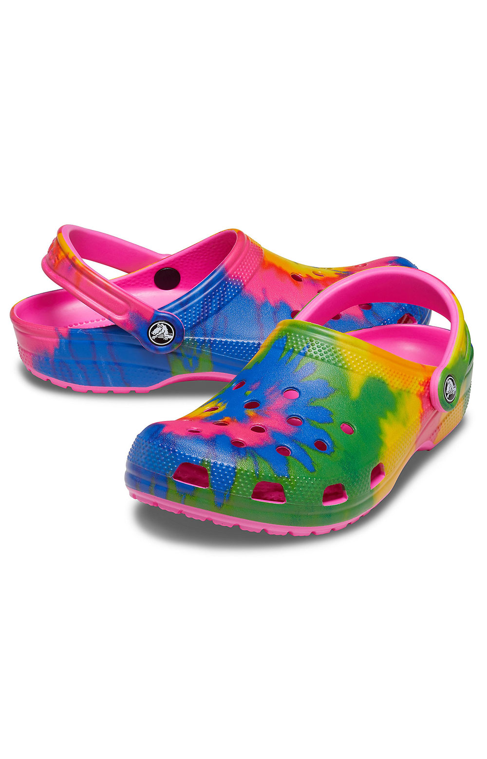 Classic Tie-Dye Graphic Clogs - Electric Pink/Multi 3