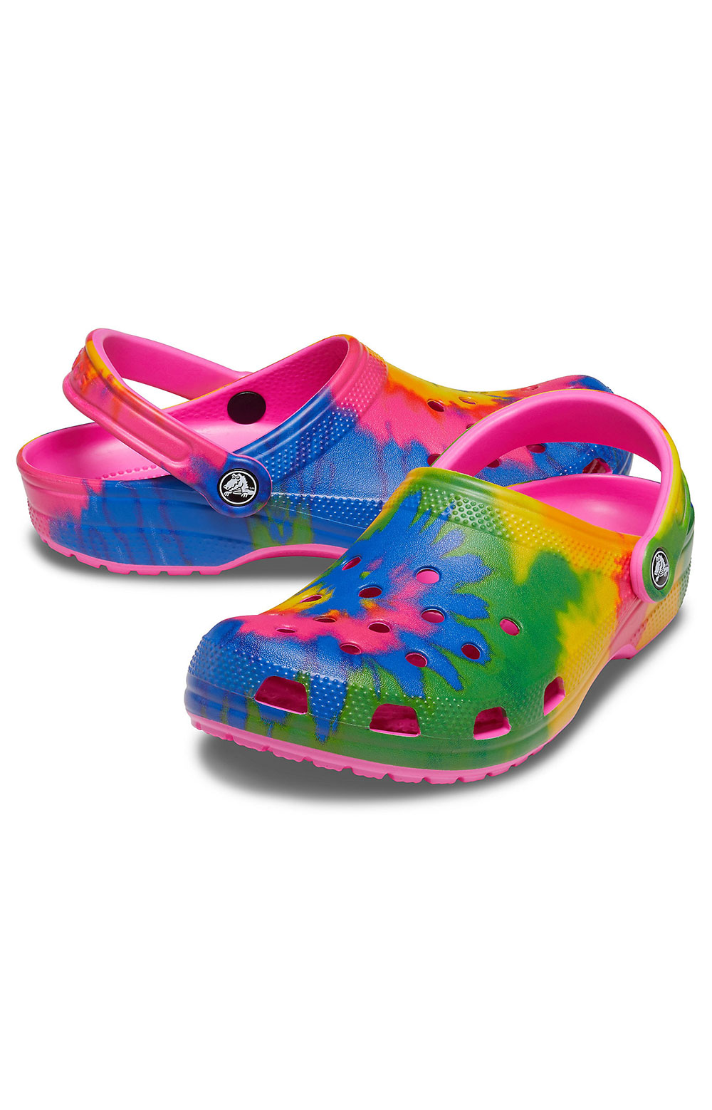 Classic Tie-Dye Graphic Clogs - Electric Pink/Multi 4