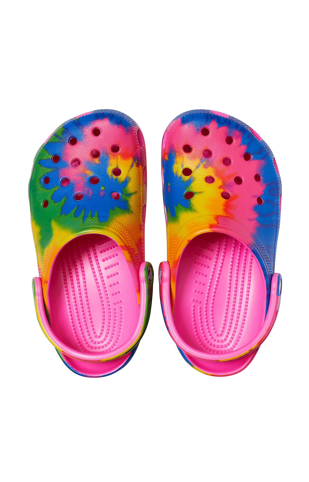 Classic Tie-Dye Graphic Clogs - Electric Pink/Multi 5