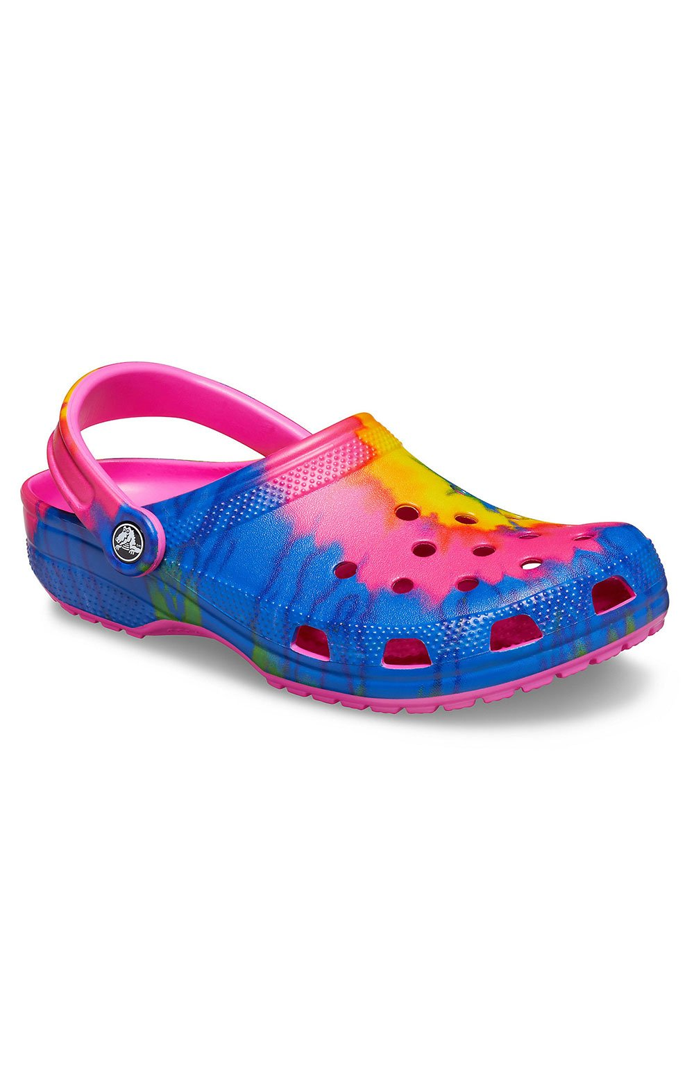 Crocs Classic Tie-Dye Graphic Clogs - Electric Pink/Multi