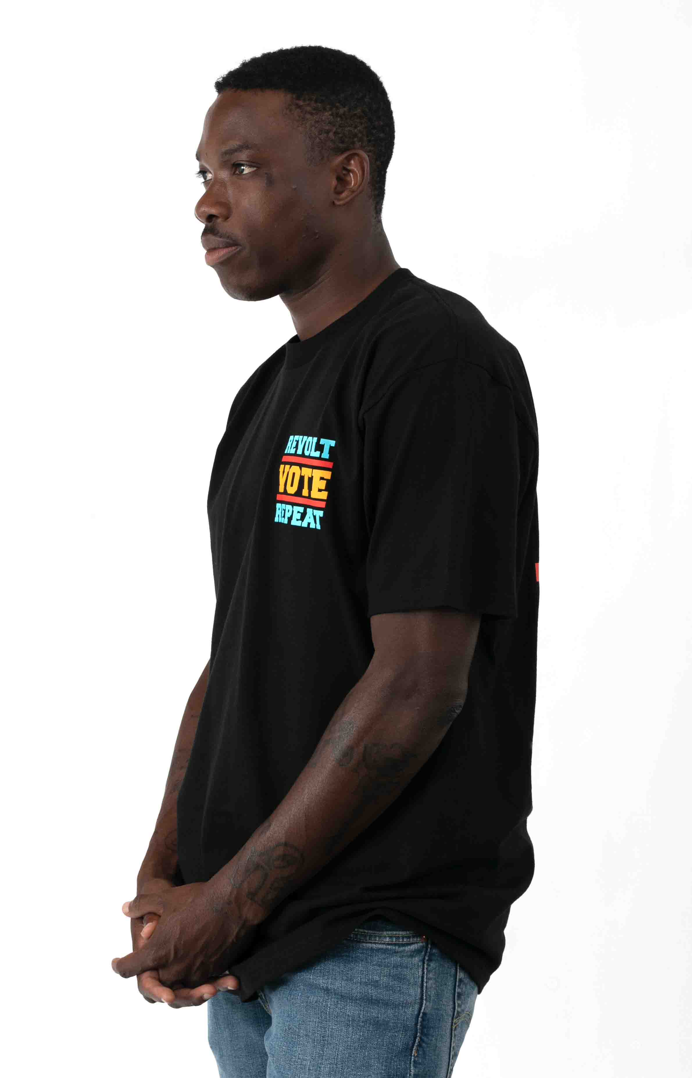 Revolt Vote Repeat T-Shirt - Black 3