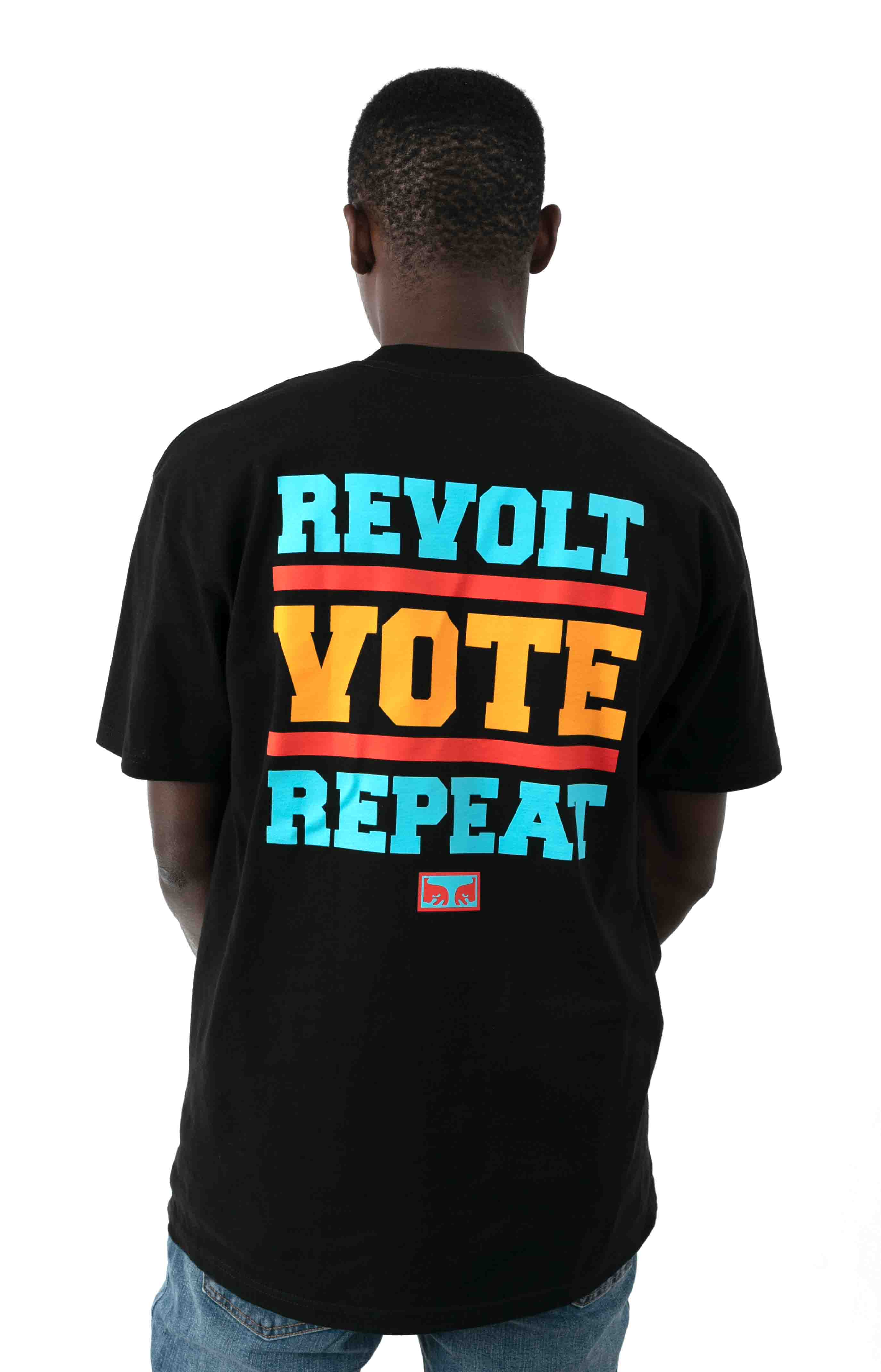 Revolt Vote Repeat T-Shirt - Black