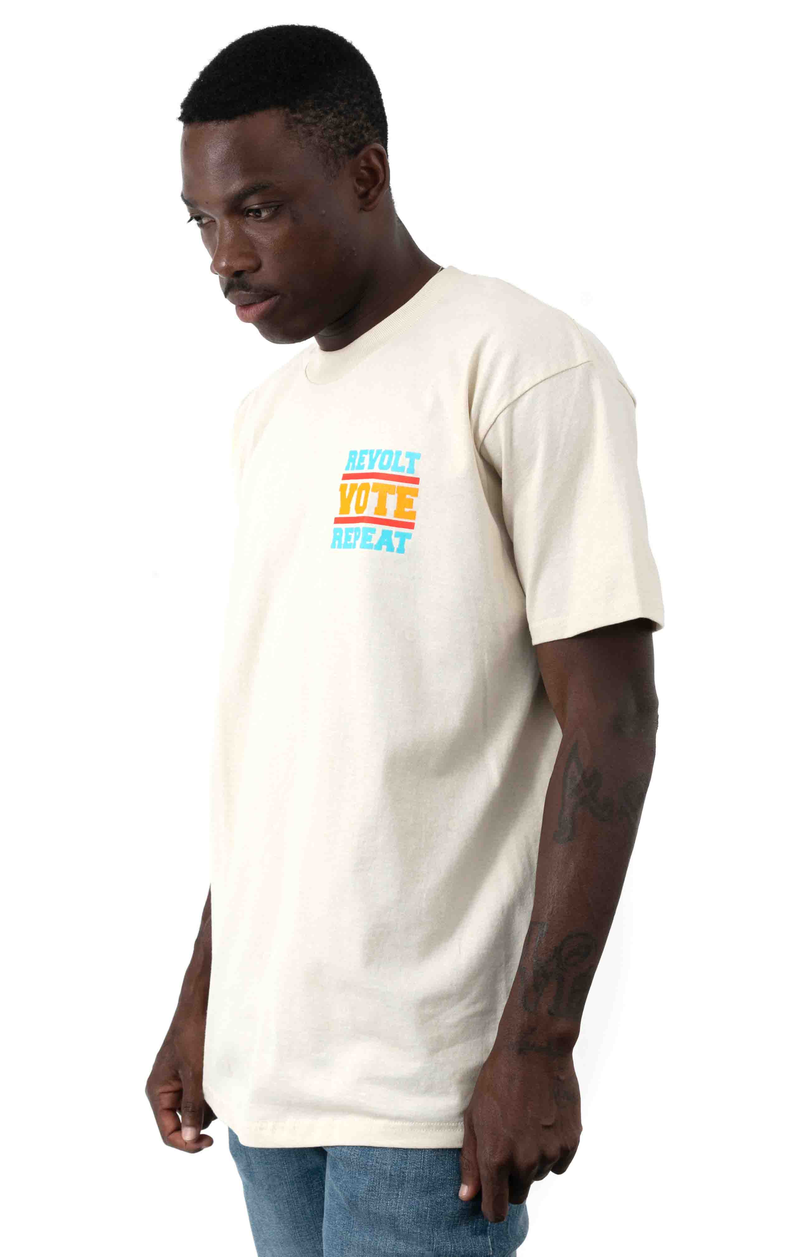 Revolt Vote Repeat T-Shirt - Cream  3