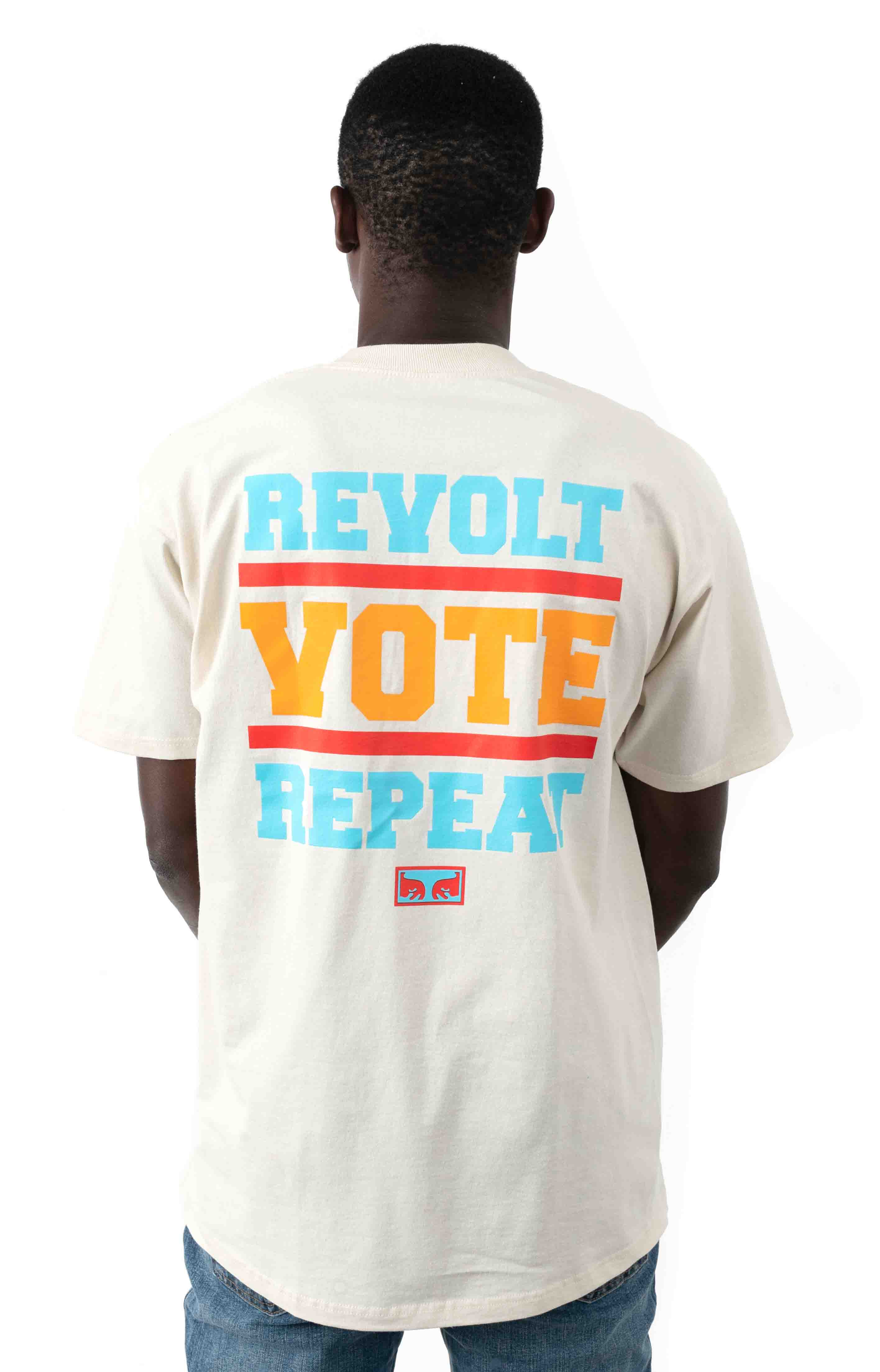 Revolt Vote Repeat T-Shirt - Cream