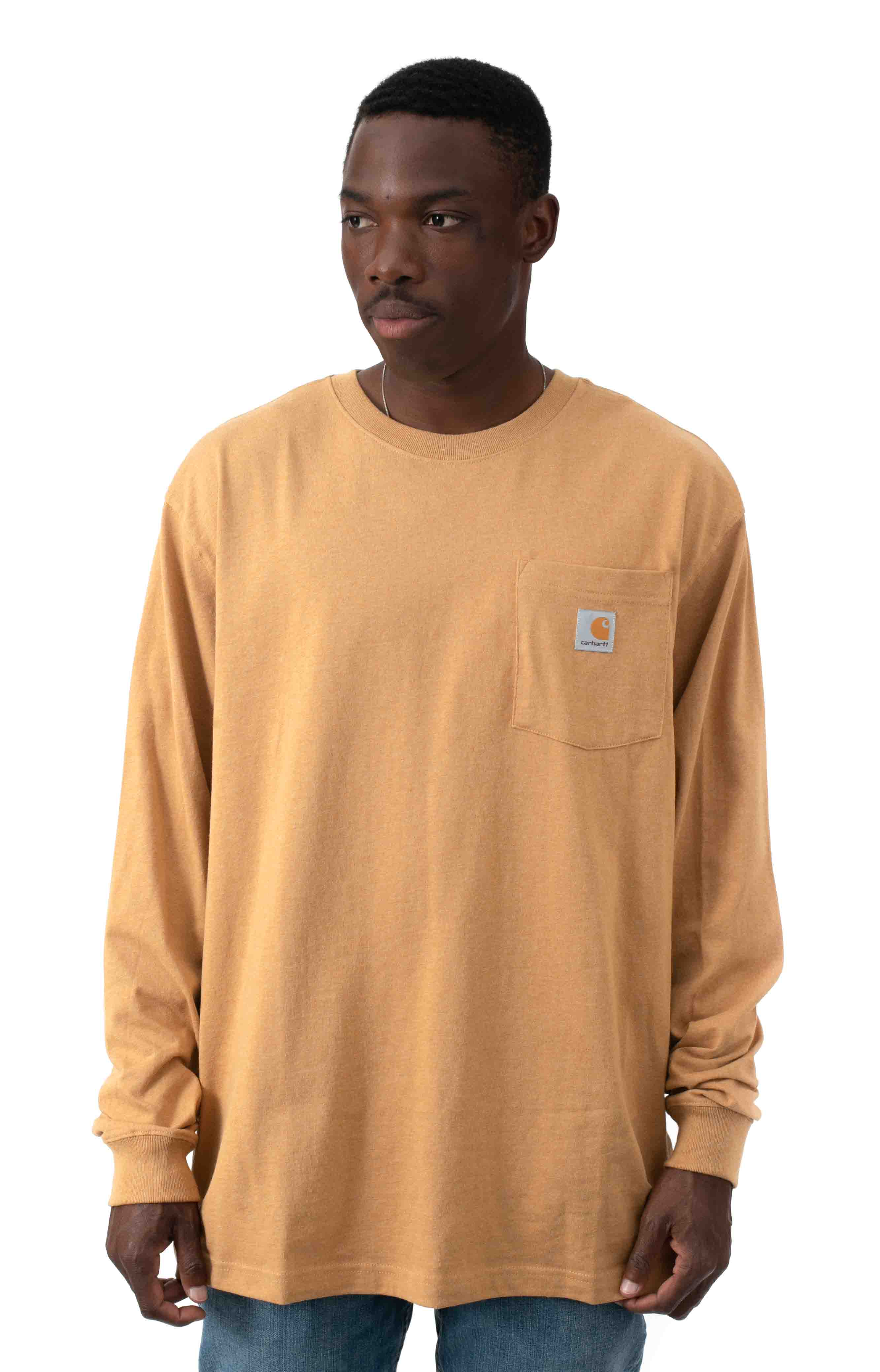 (K126) L/S Workwear Pocket Shirt - Yellowstone Heather