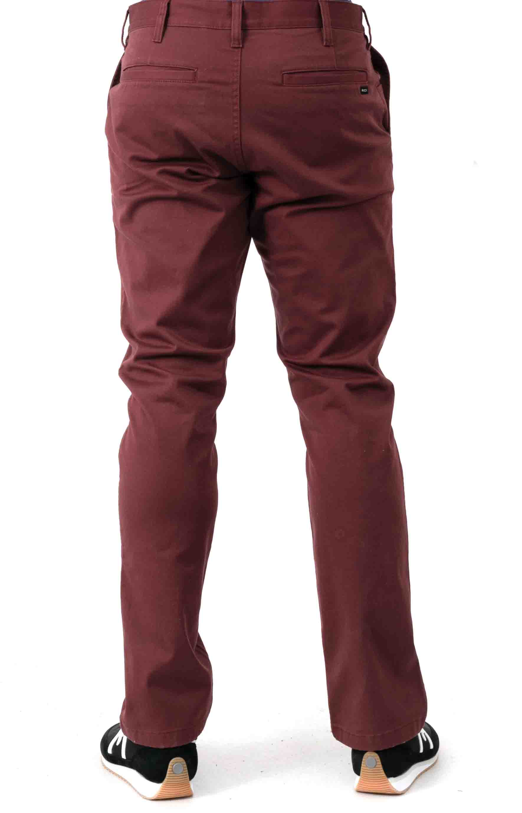 Week-End Stretch Straight Fit Pants - Oxblood Red 3