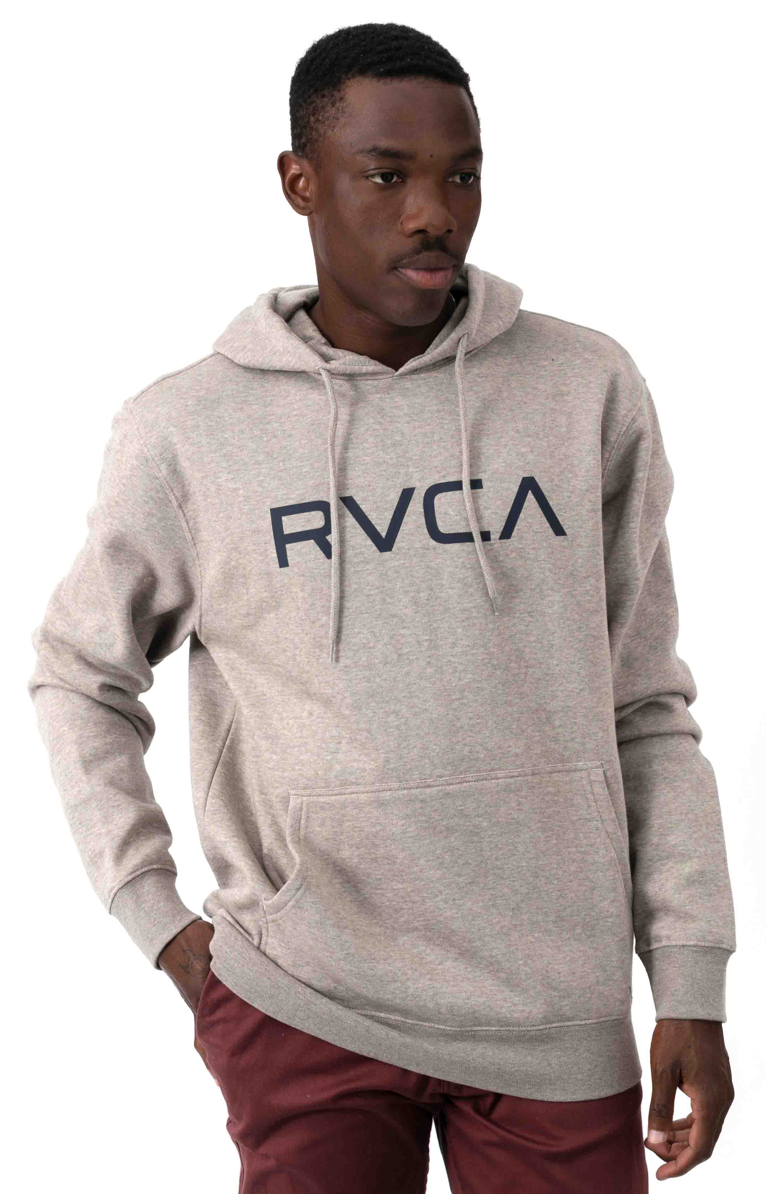 Big RVCA Pullover Hoodie - Khaki Heather