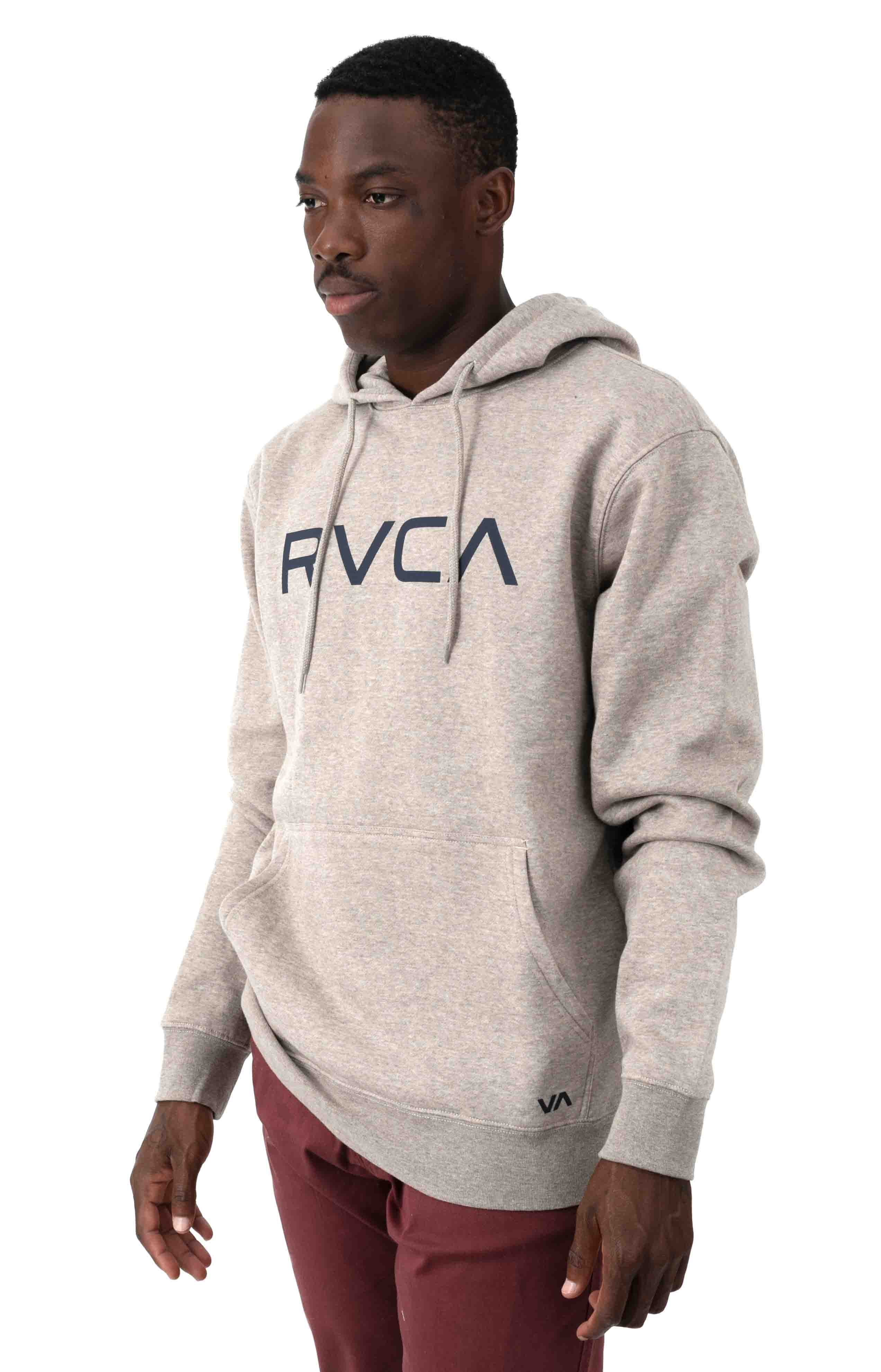 Big RVCA Pullover Hoodie - Khaki Heather  2