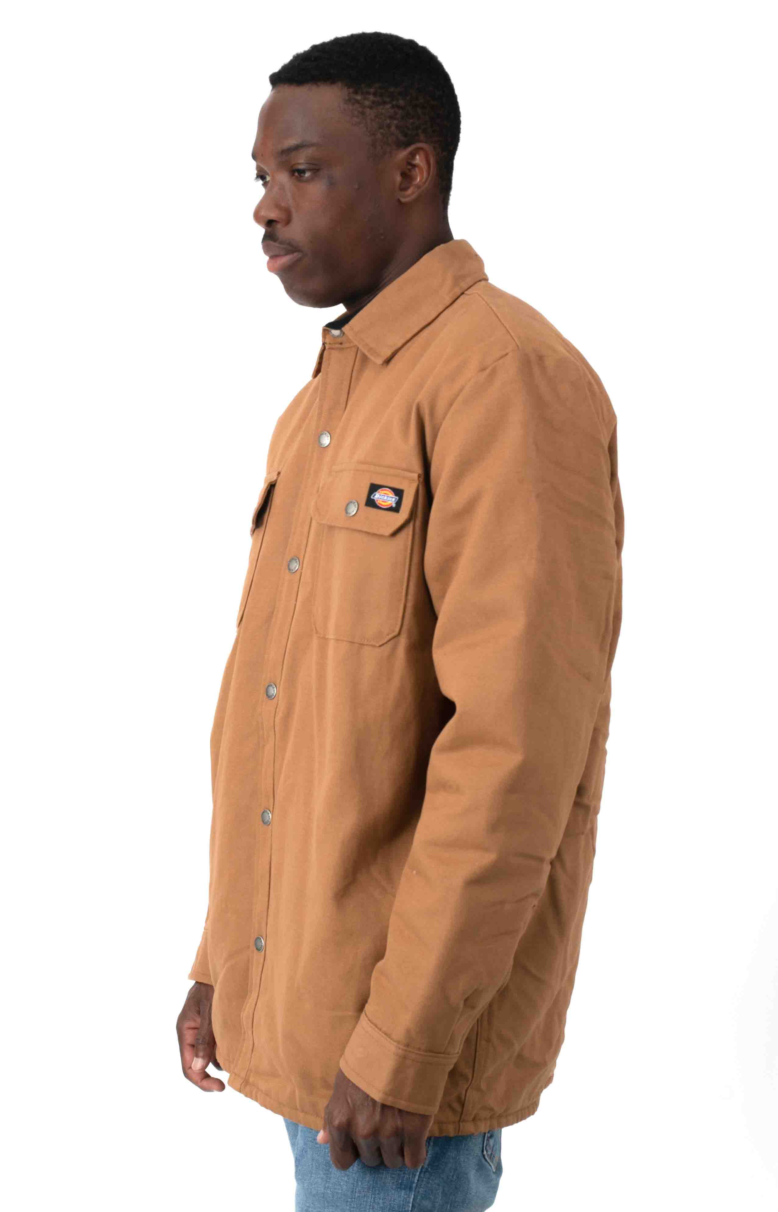 (TJ215BD) Flannel Lined Duck Shirt Jacket with Hydroshield - Brown Duck 2