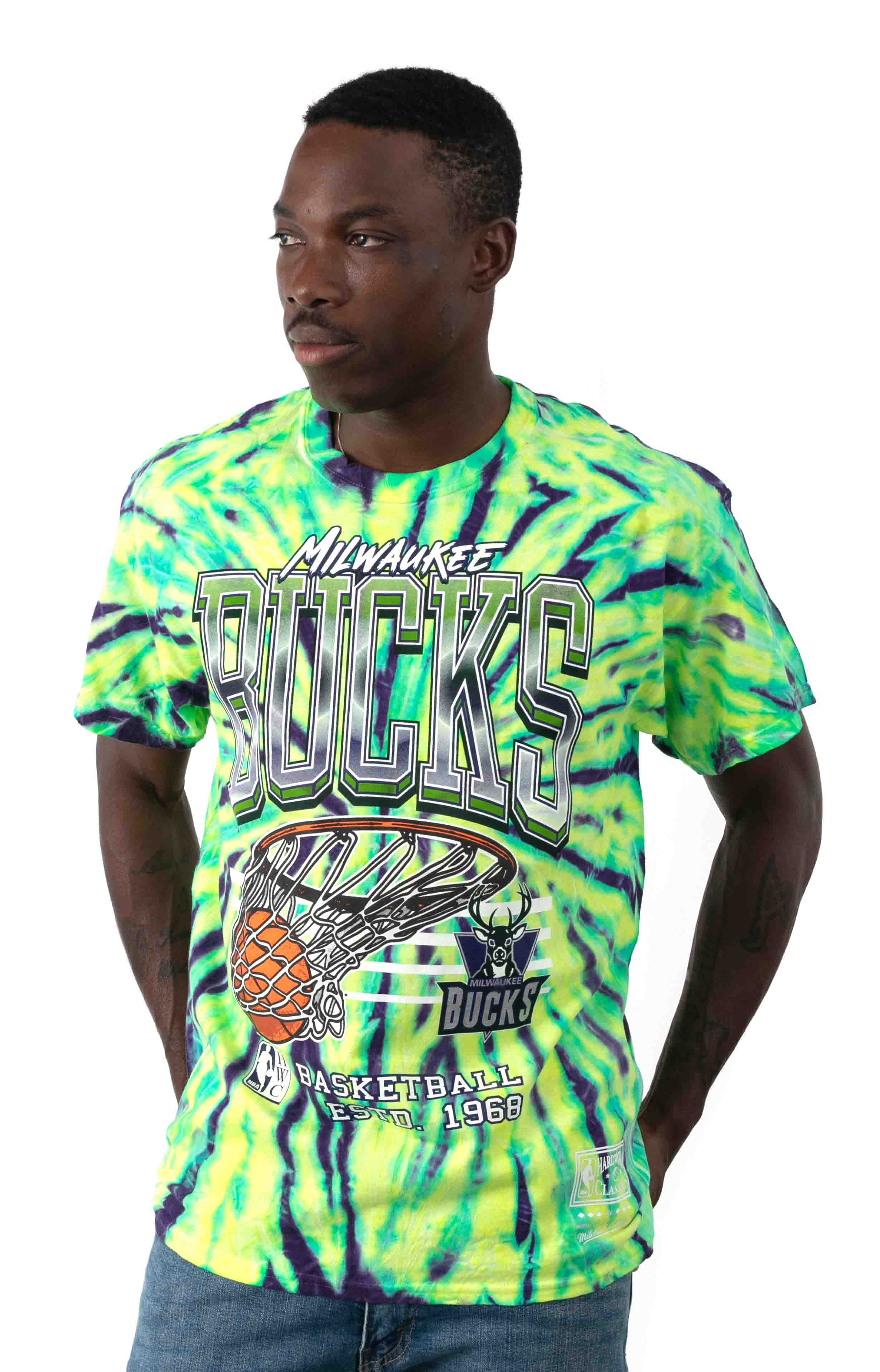 NBA Neon Swish T-Shirt - Bucks