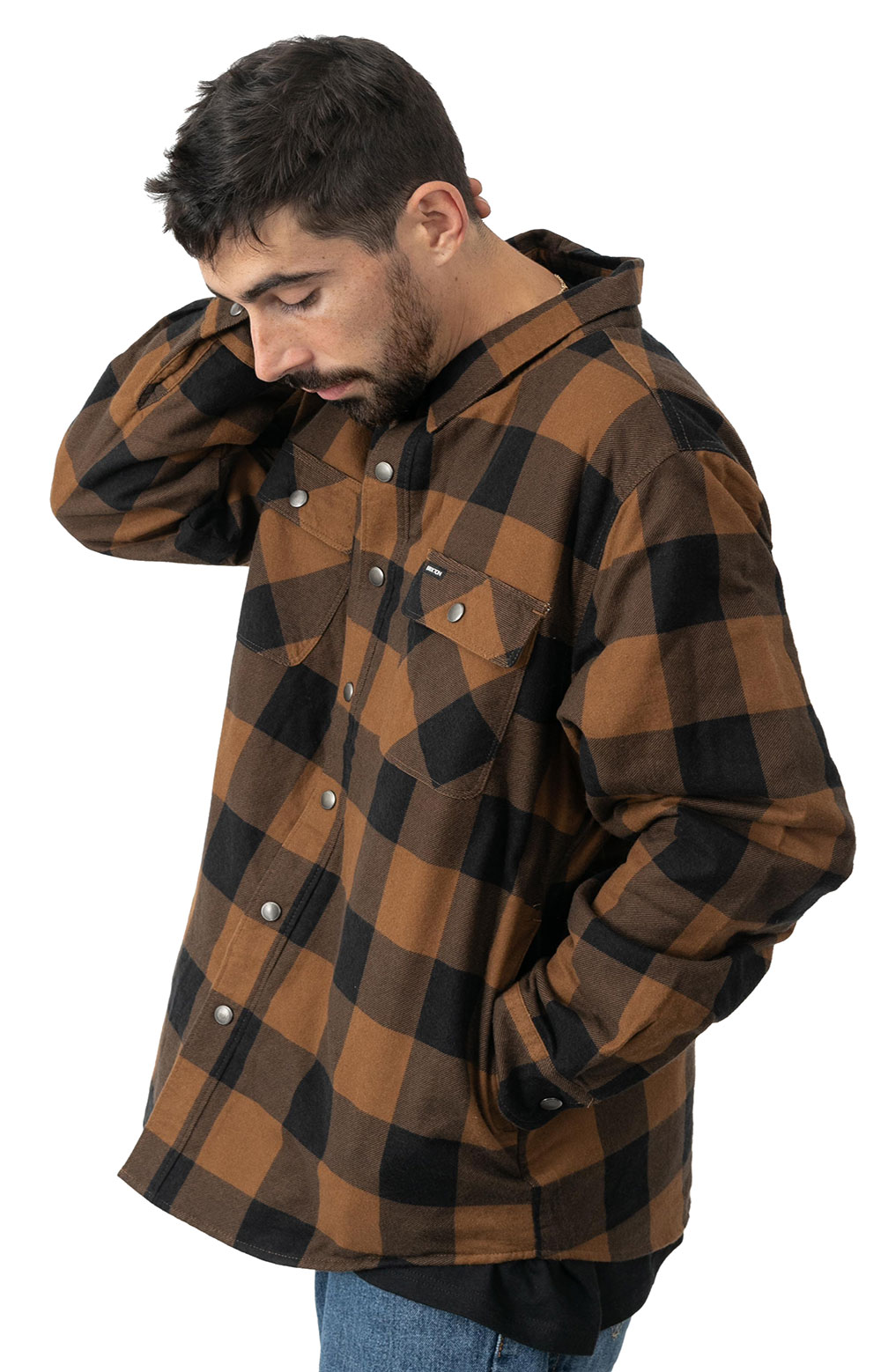 Bowery Lined L/S Flannel - Navy/Copper 2