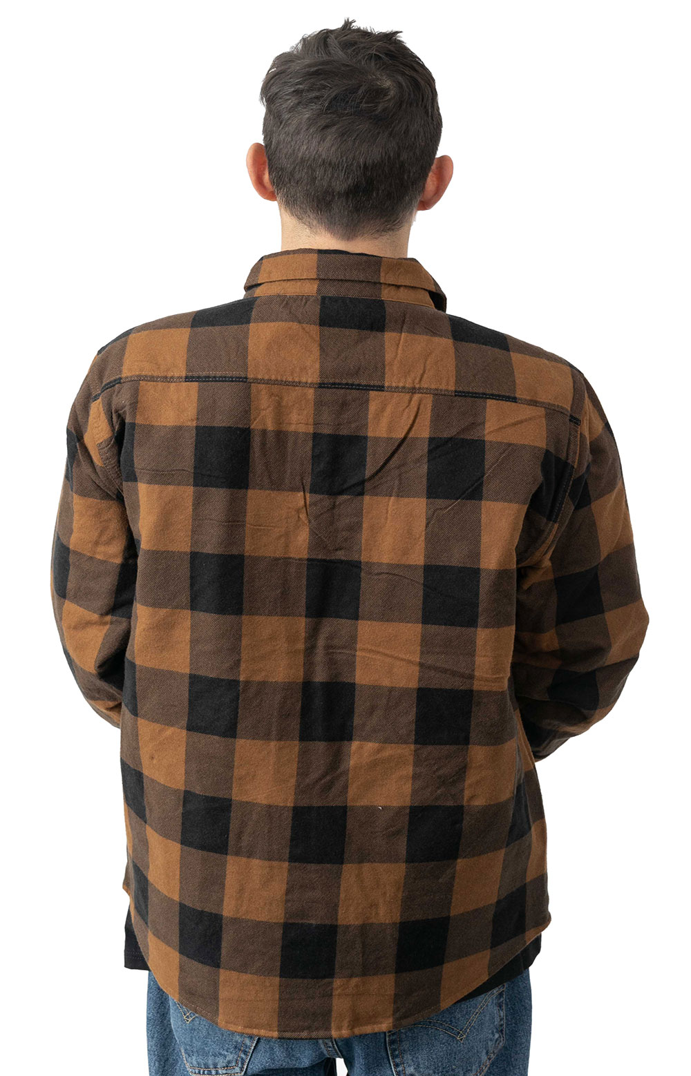 Bowery Lined L/S Flannel - Navy/Copper 3