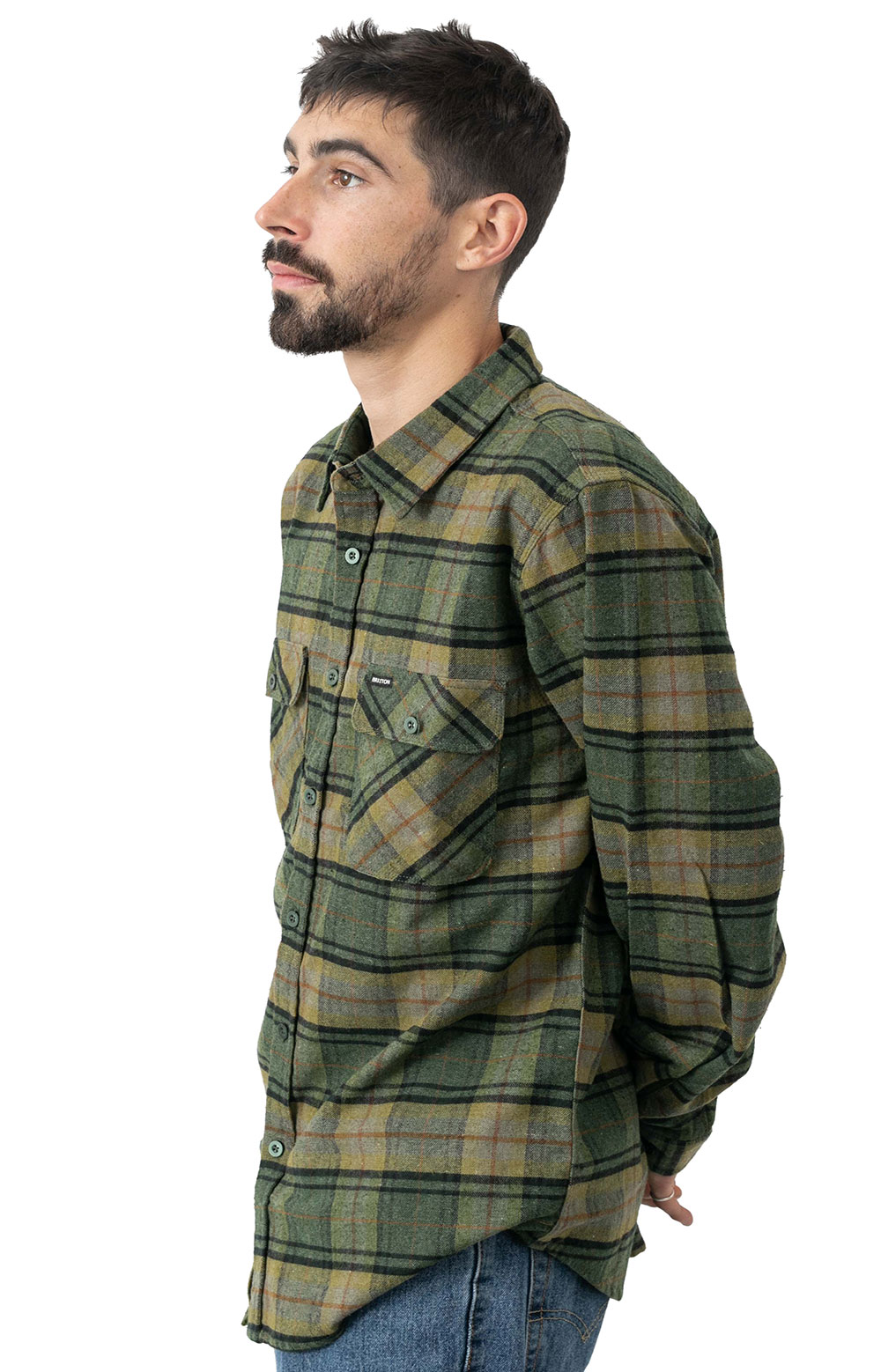 Bowery Lined L/S Flannel - Evergreen  2