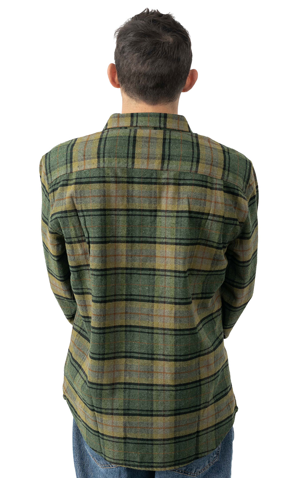 Bowery Lined L/S Flannel - Evergreen  3