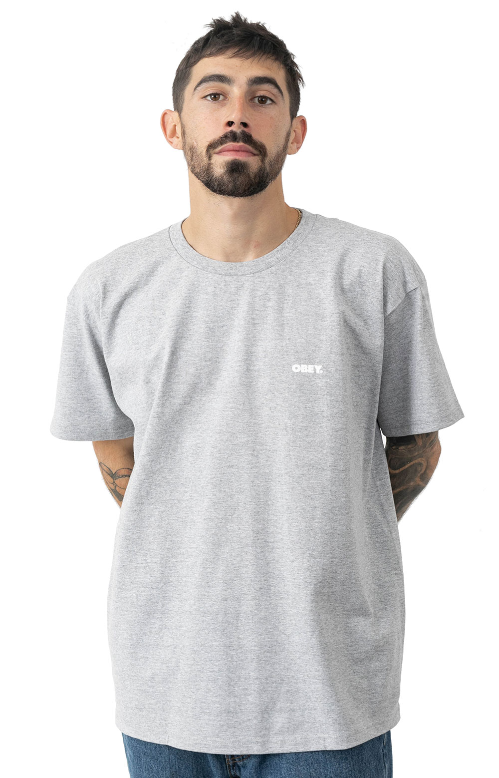 Obey Peace T-Shirt - Heather Grey 2