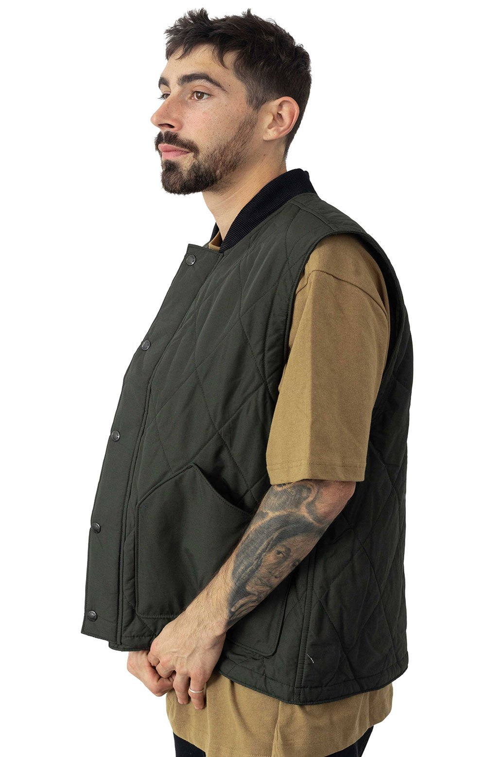 Quilted Pack Vest - Dark Otter Green  2