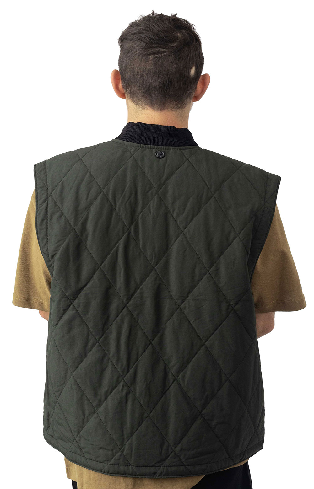 Quilted Pack Vest - Dark Otter Green  3