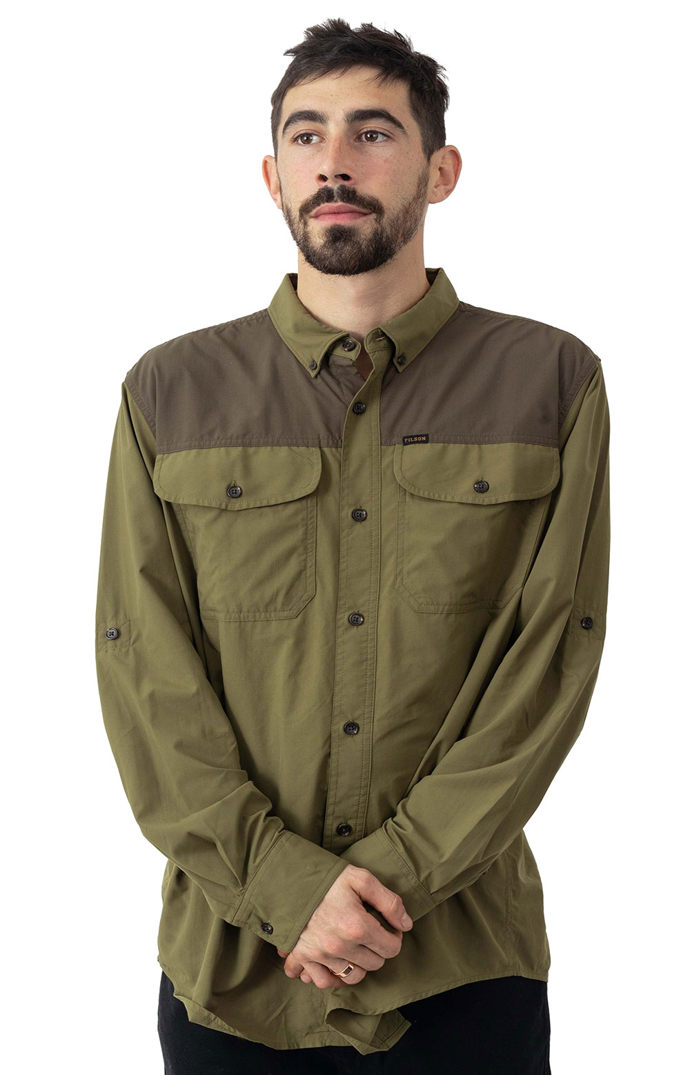 Sportsman's Button-Up Shirt - Olived Drab 2