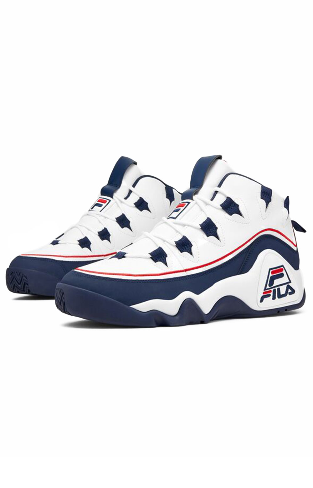 Grant Hill 1 Offset Shoes - White/Navy/Red  4