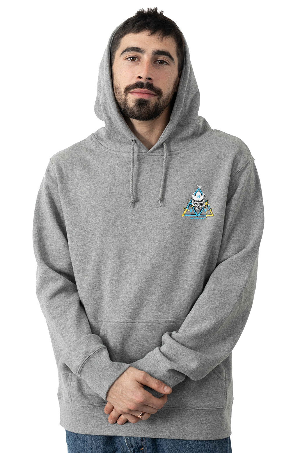 Blvd TT Pullover Hoodie - Grey Heather  2