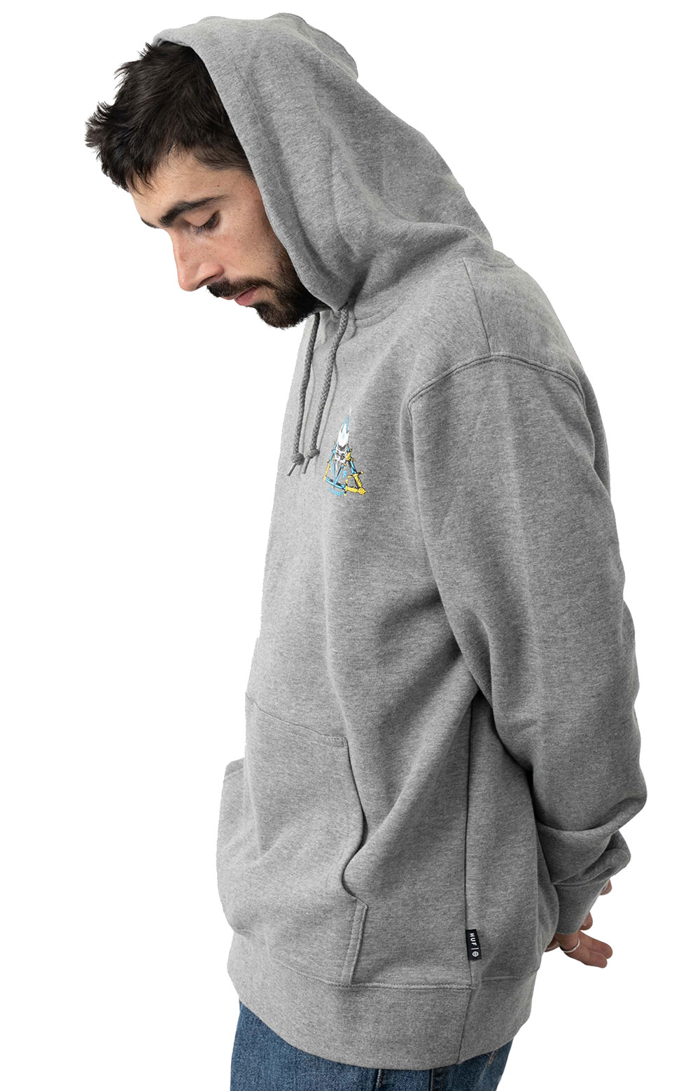 Blvd TT Pullover Hoodie - Grey Heather  3