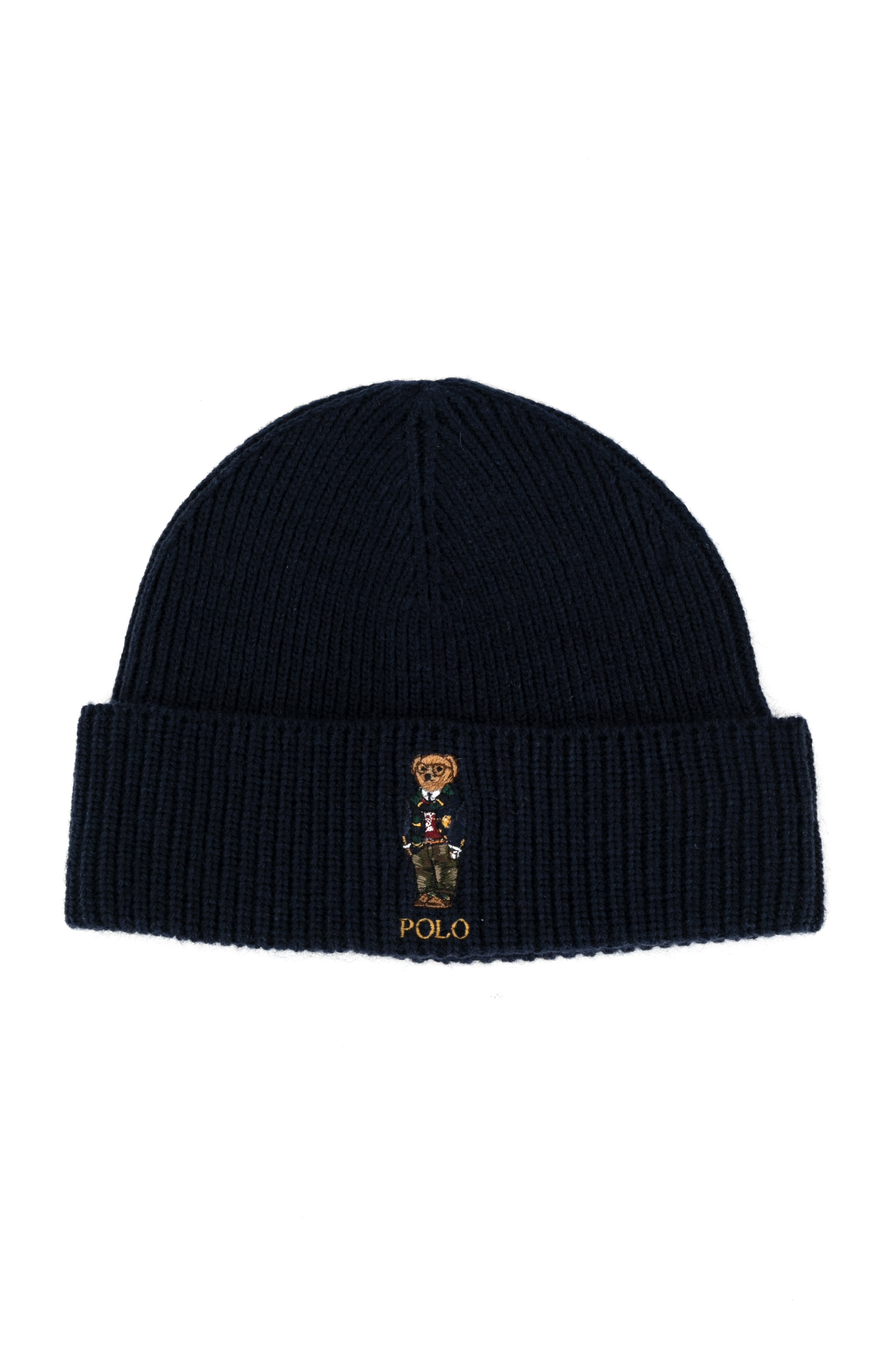 Solid Collegiate Bear Hat - Cruise Navy